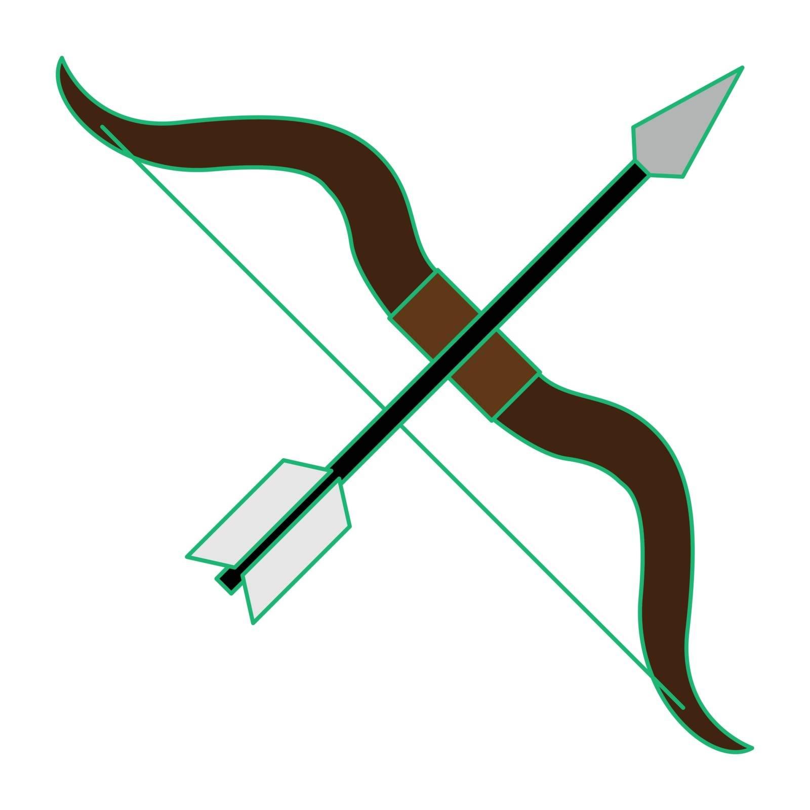 Simple flat color sagitarius icon vector