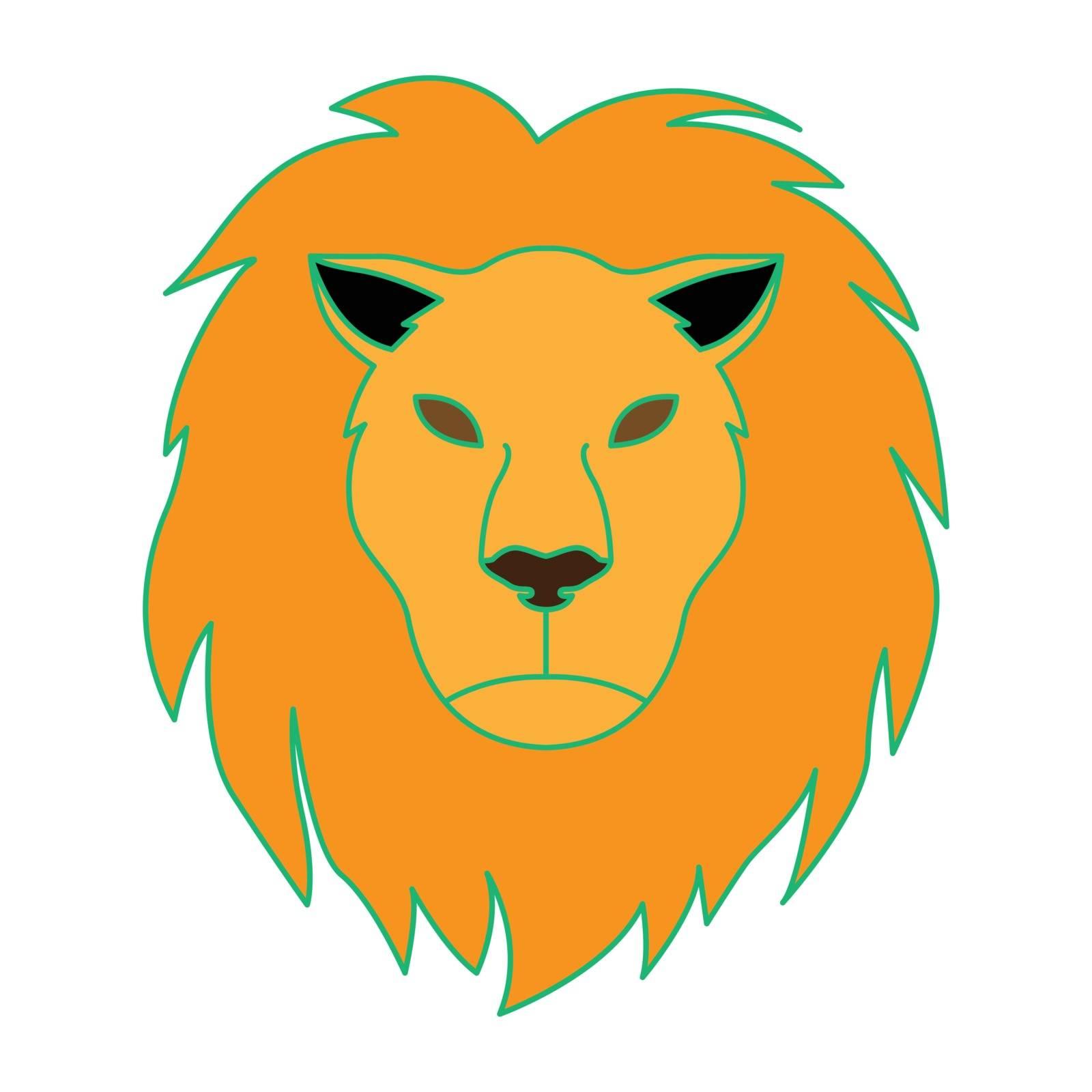 Simple flat color leo icon vector