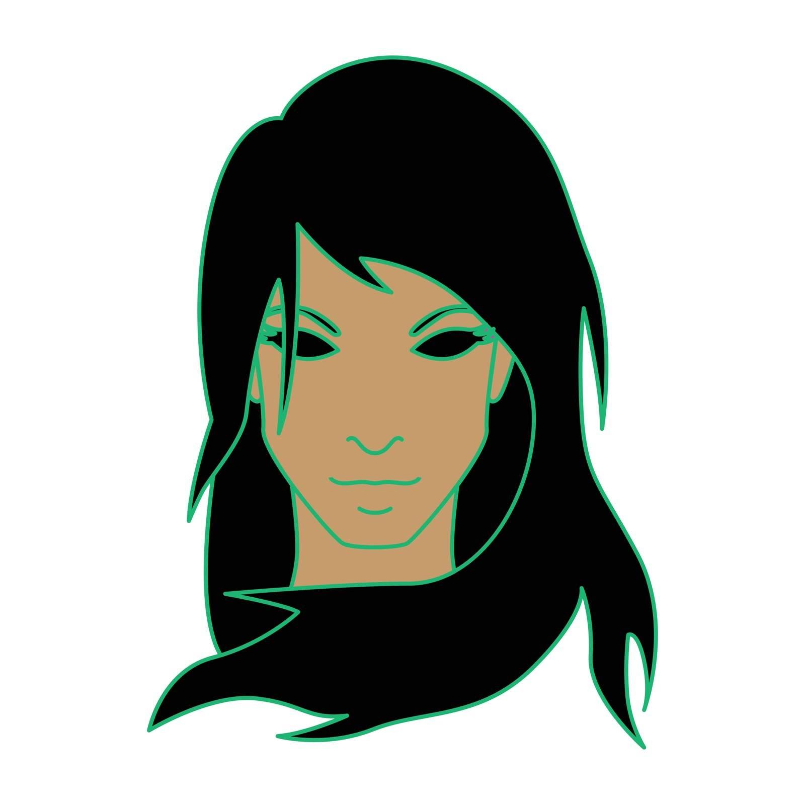 Simple flat color virgo icon vector