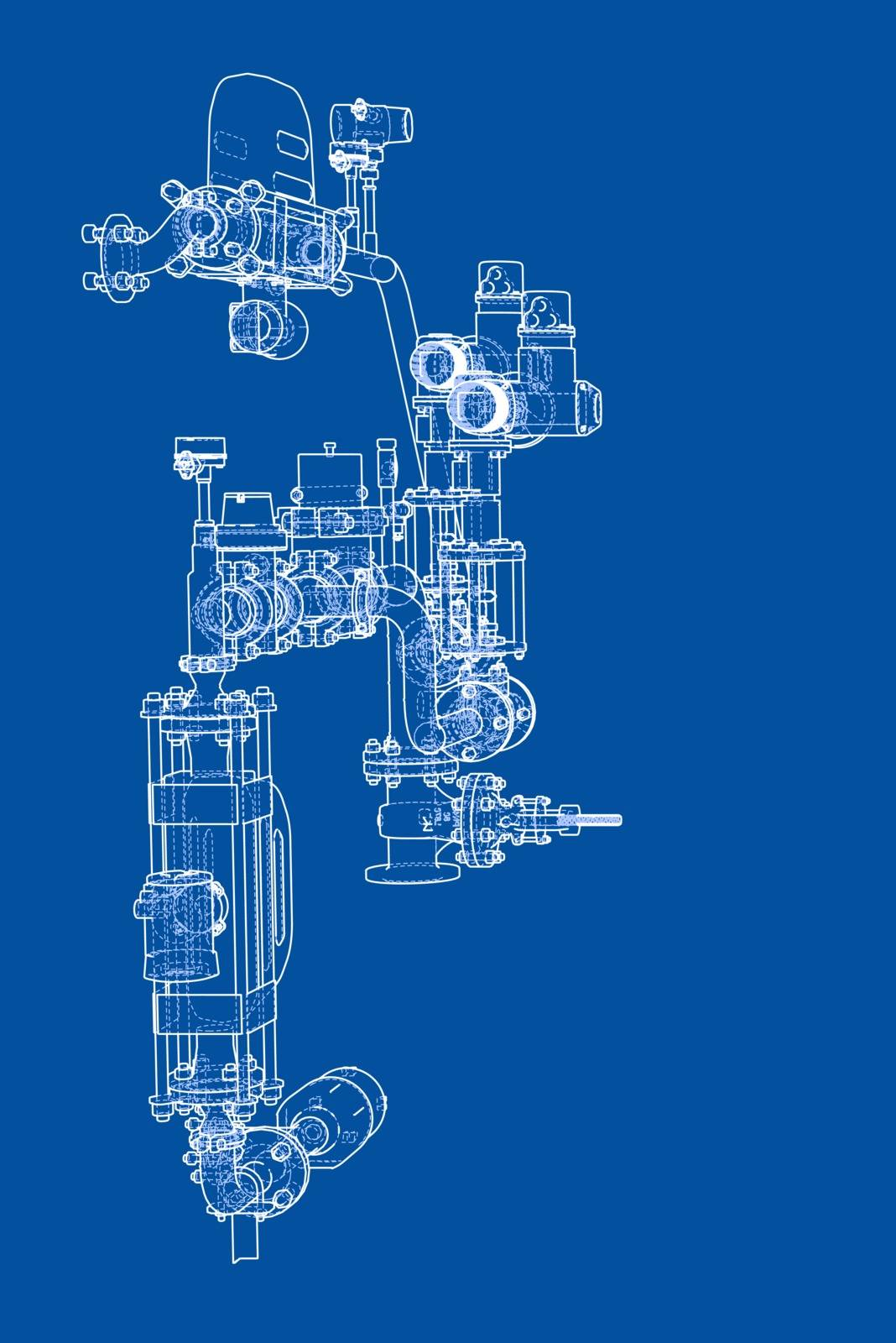Sketch industrial equipment by cherezoff