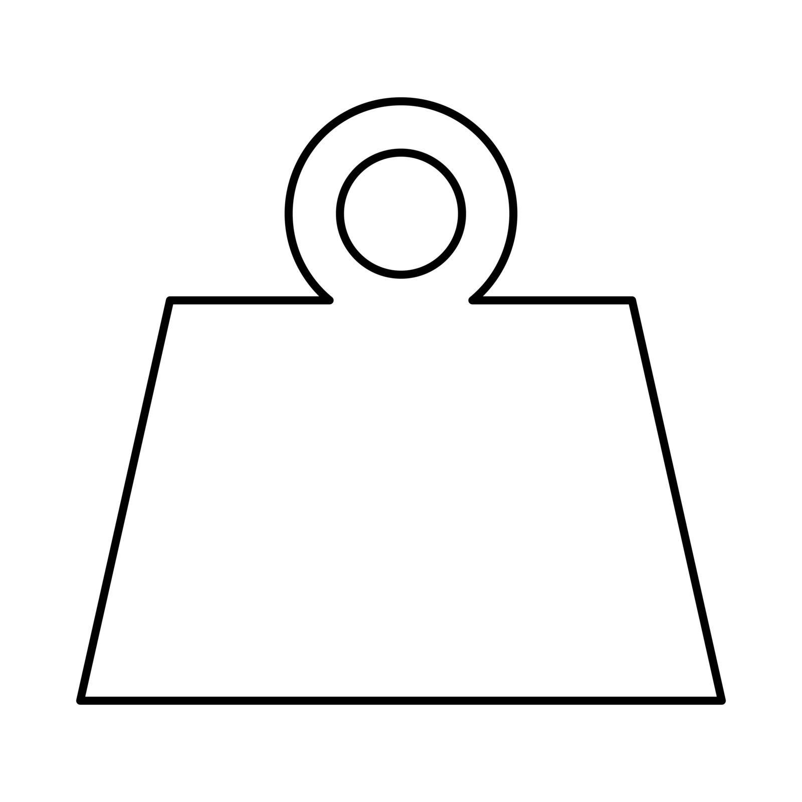 Weight black icon .