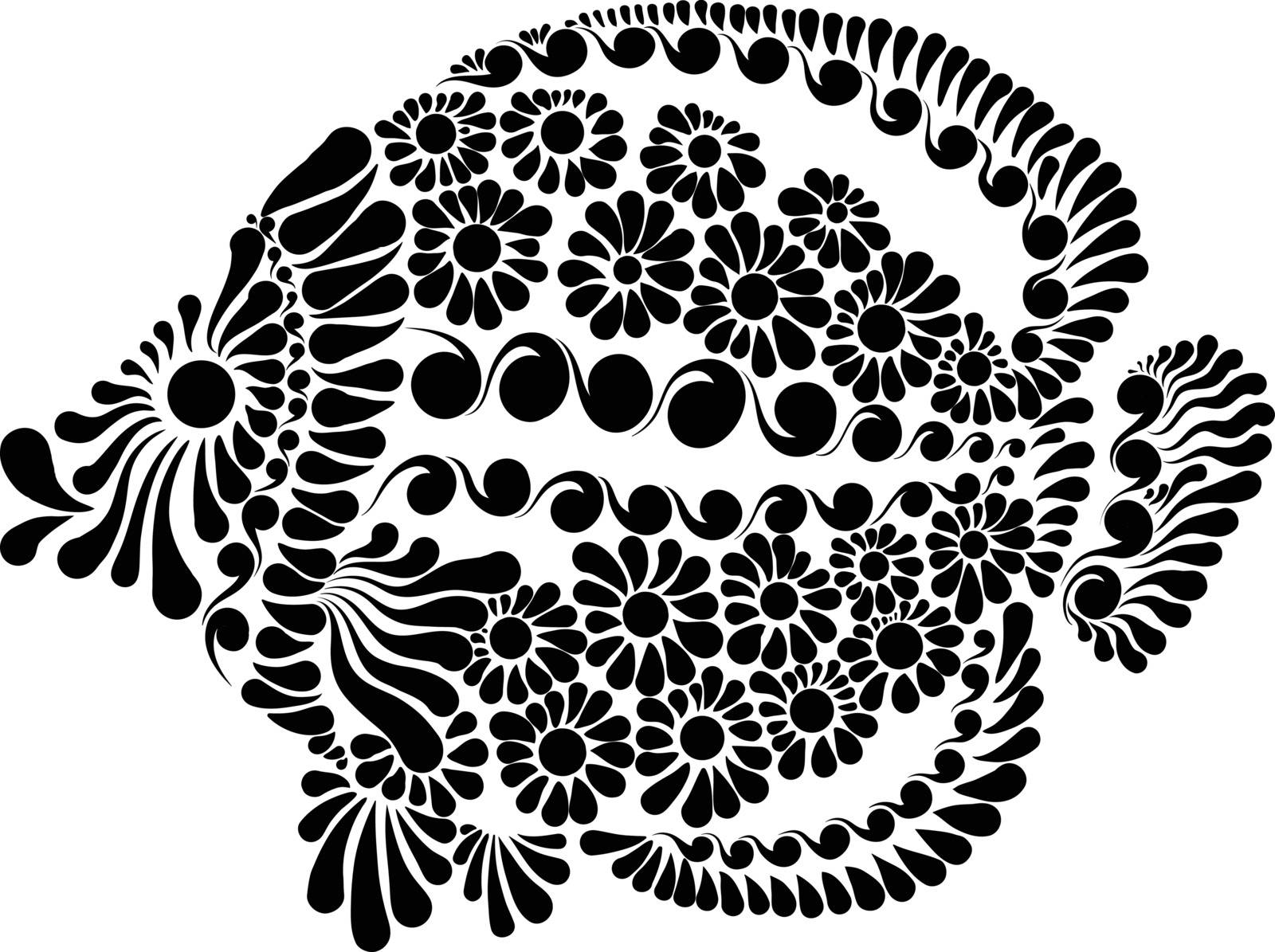 Decorative image of a fairy fish vector illustration