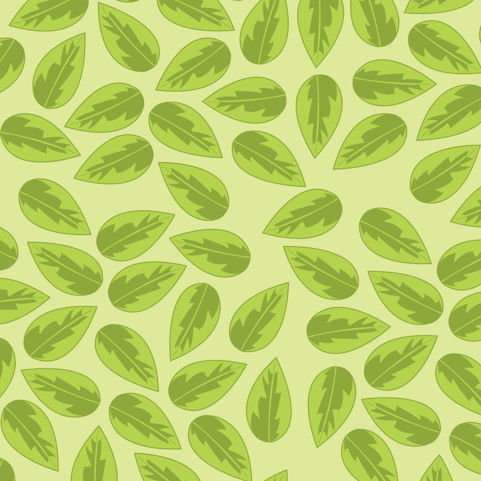Year decorative pattern from green foliage.Vector illustration