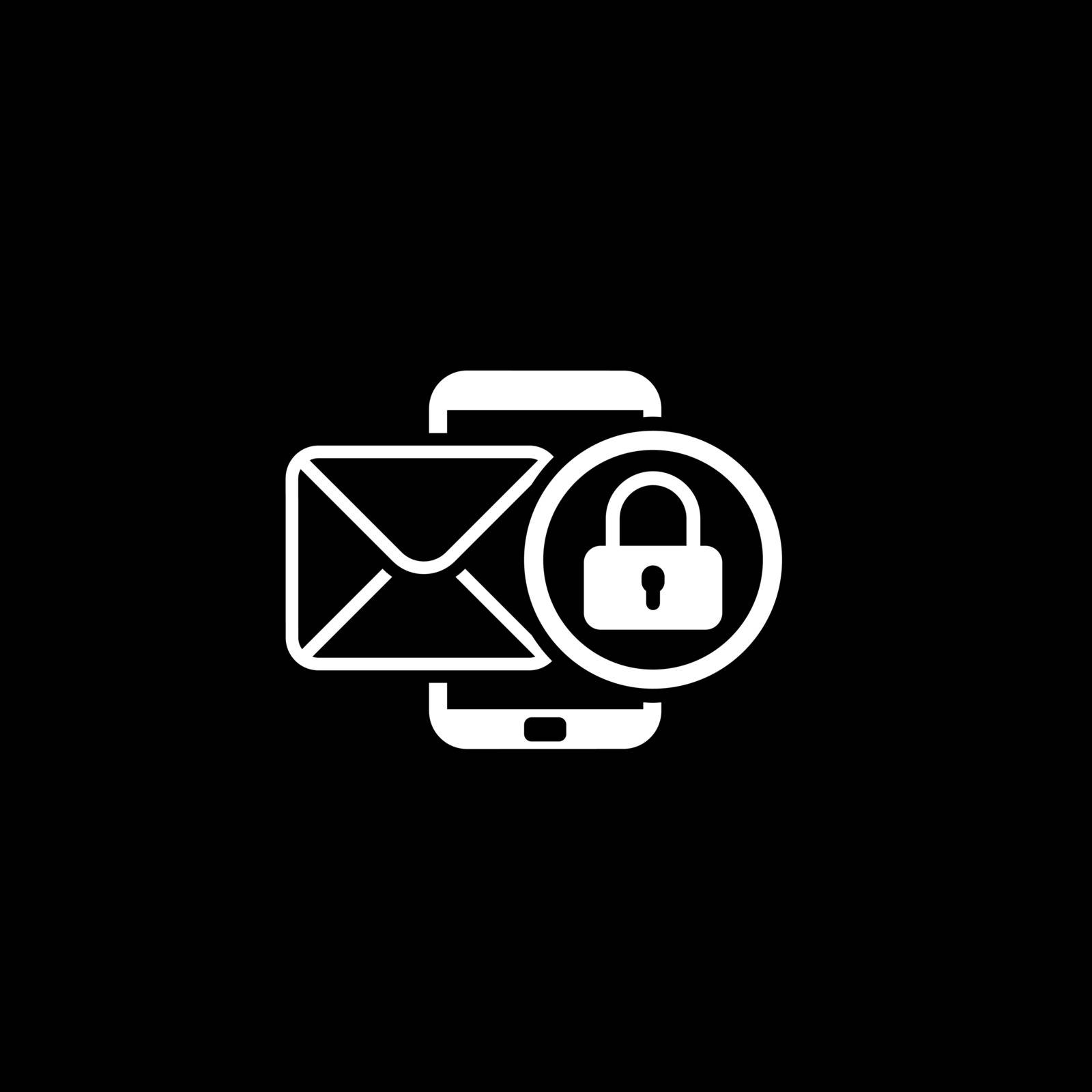 Privacy Protection Icon. Flat Design. Business Concept Isolated Illustration.