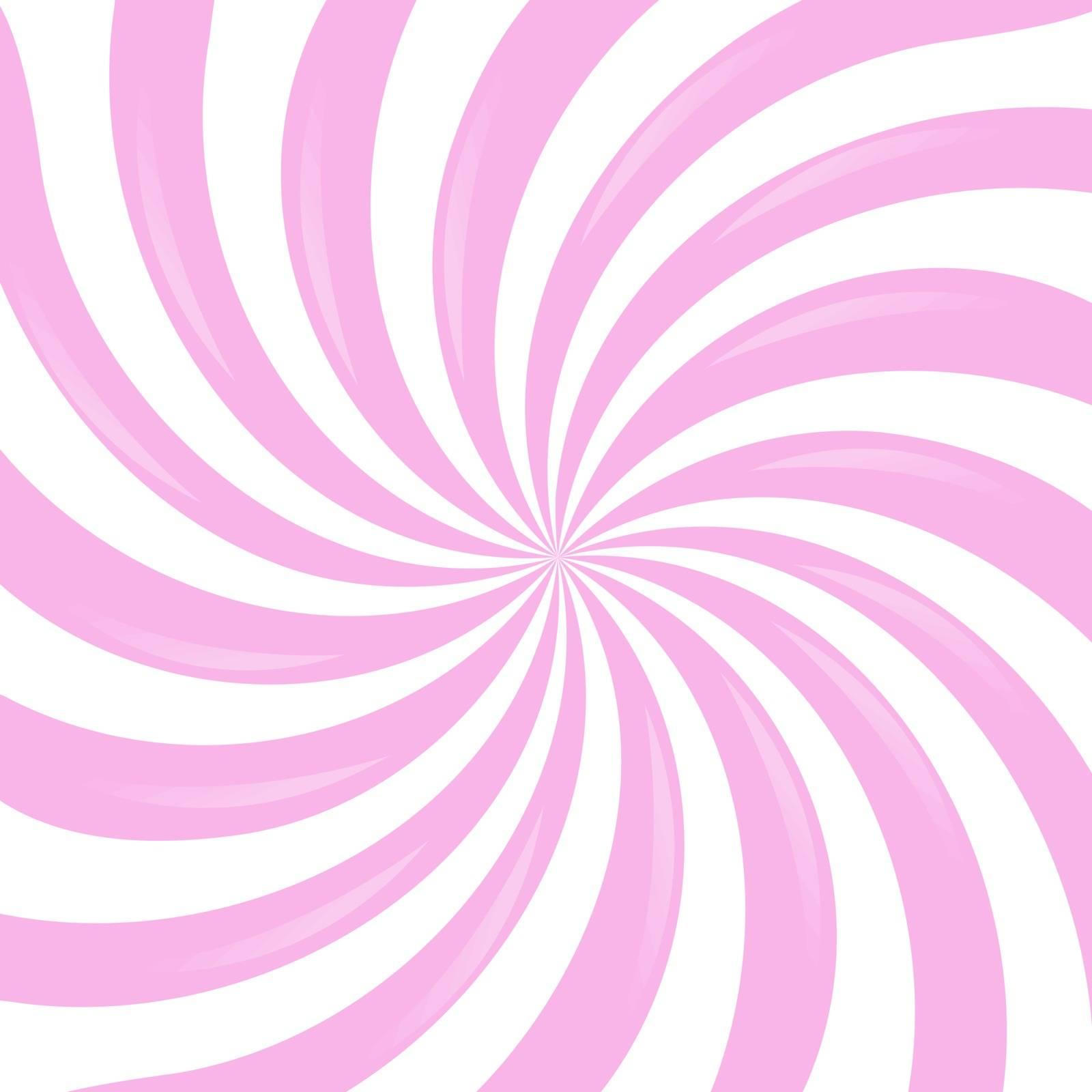 Pink Sunburst, Vector Illustration, With Gradient Mesh