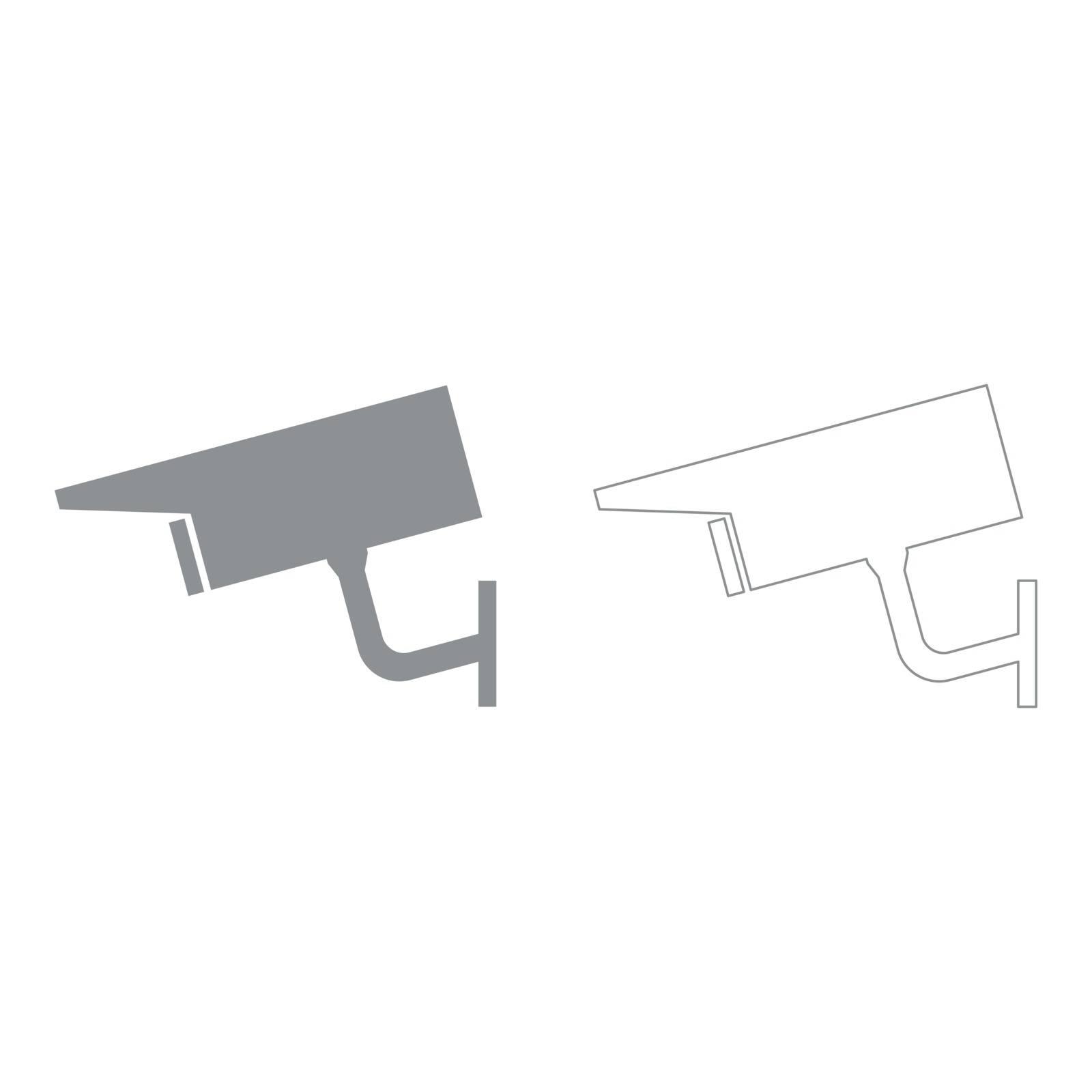 Video surveillance  set  icon .