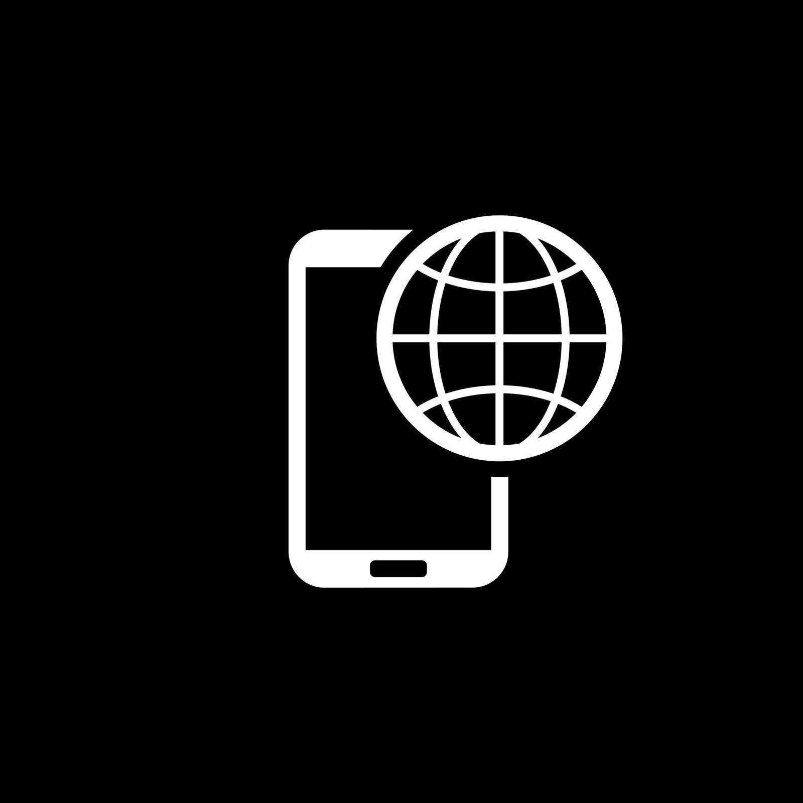 International Roaming Icon. Flat Design. Mobile Devices and Services Concept. Isolated Illustration.