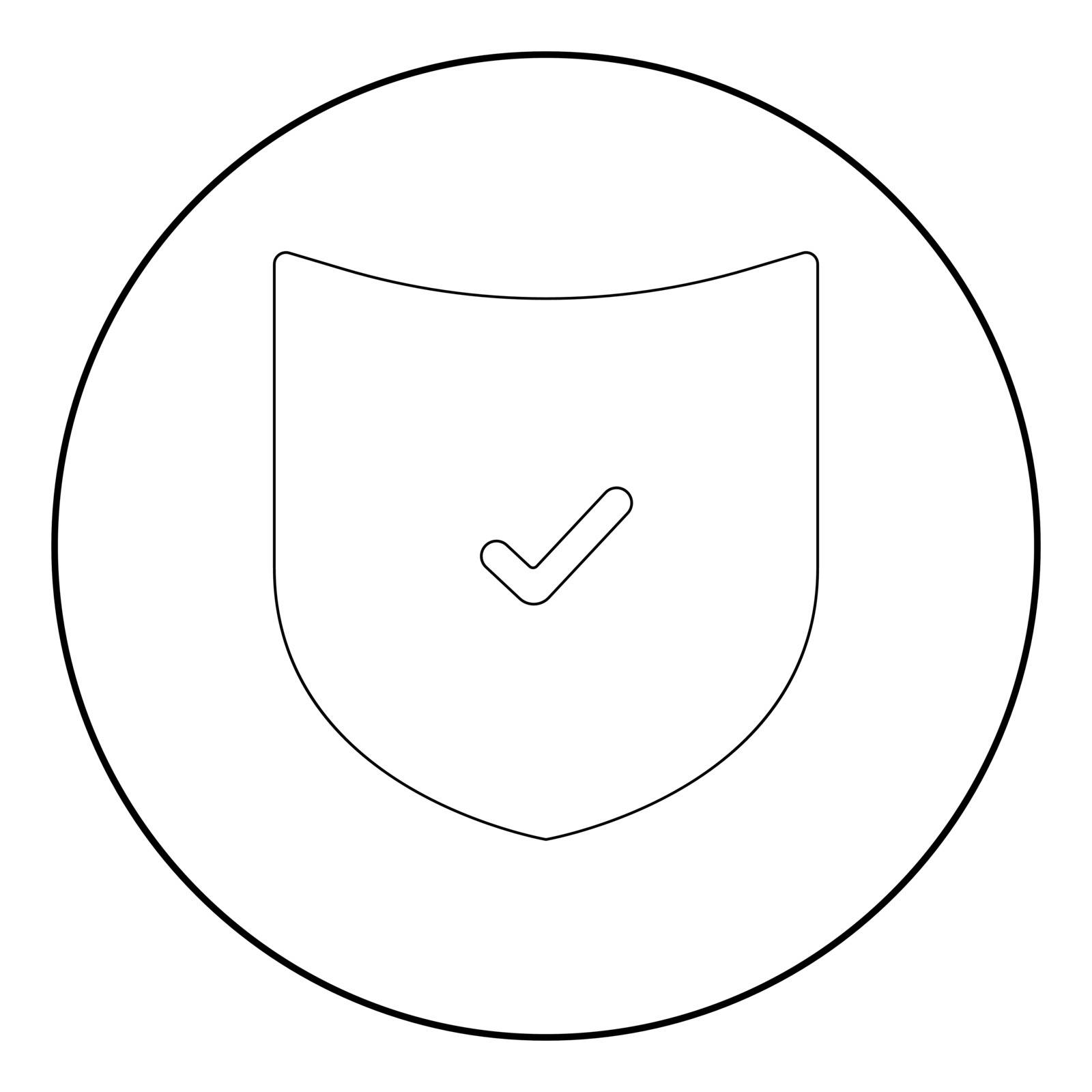 Shield it is the black color icon in circle or round