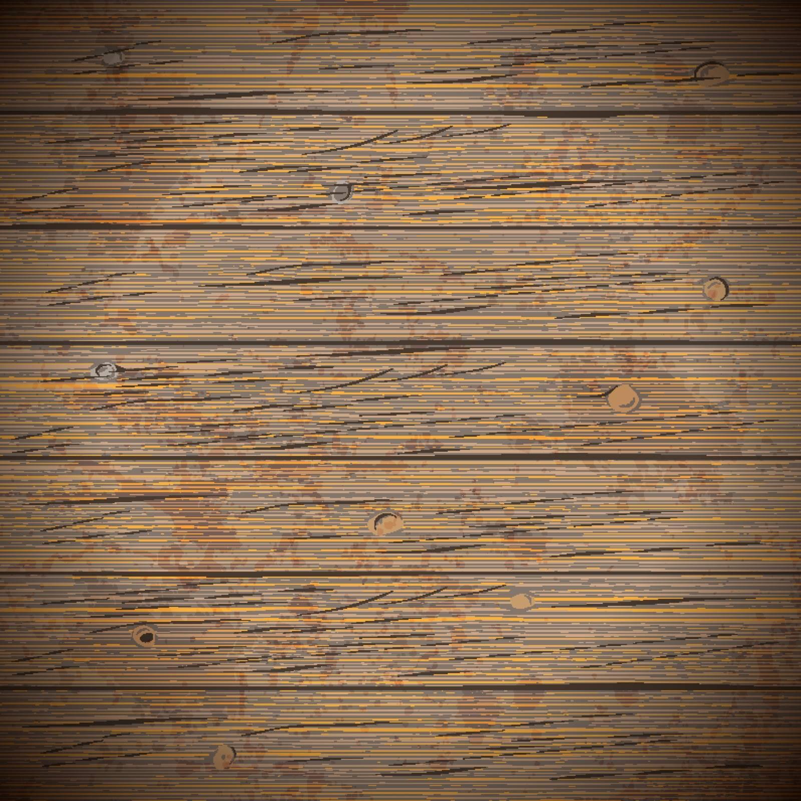 Rustic wood planks vintage background. Vector illustration.