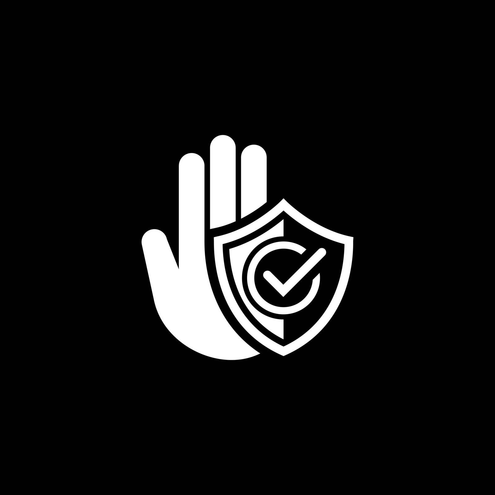 Secured Area Icon. Flat Design Isolated Illustration.