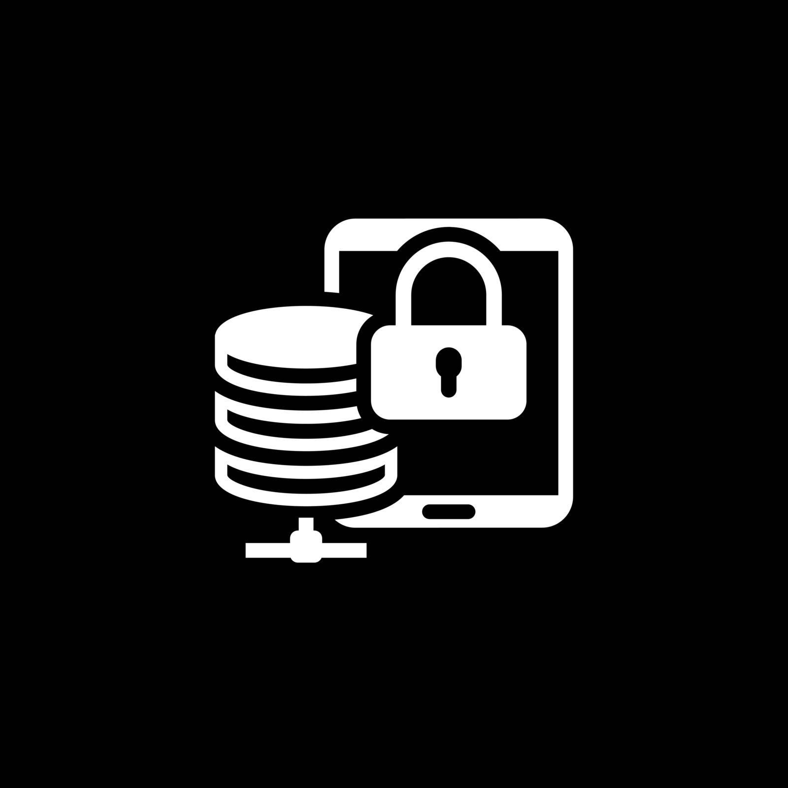 Mobile Secure Storage Icon. Flat Design Isolated Illustration.