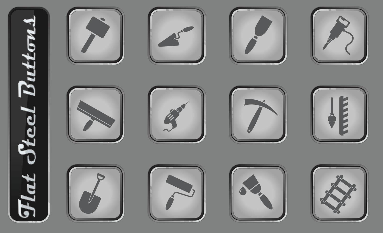 Symbols of building equipment by ayax