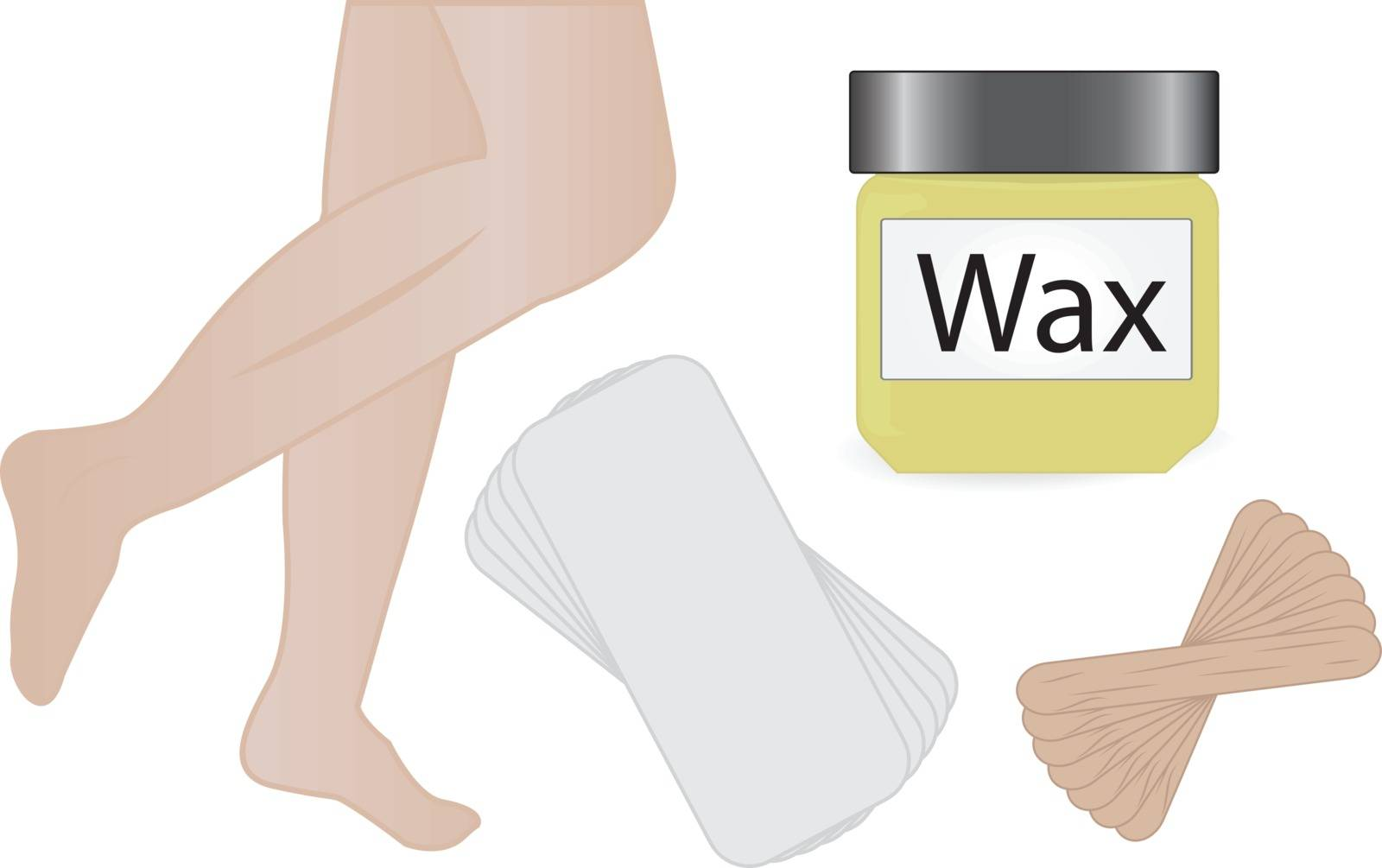 Wax hair removal vector illustration by Olena758