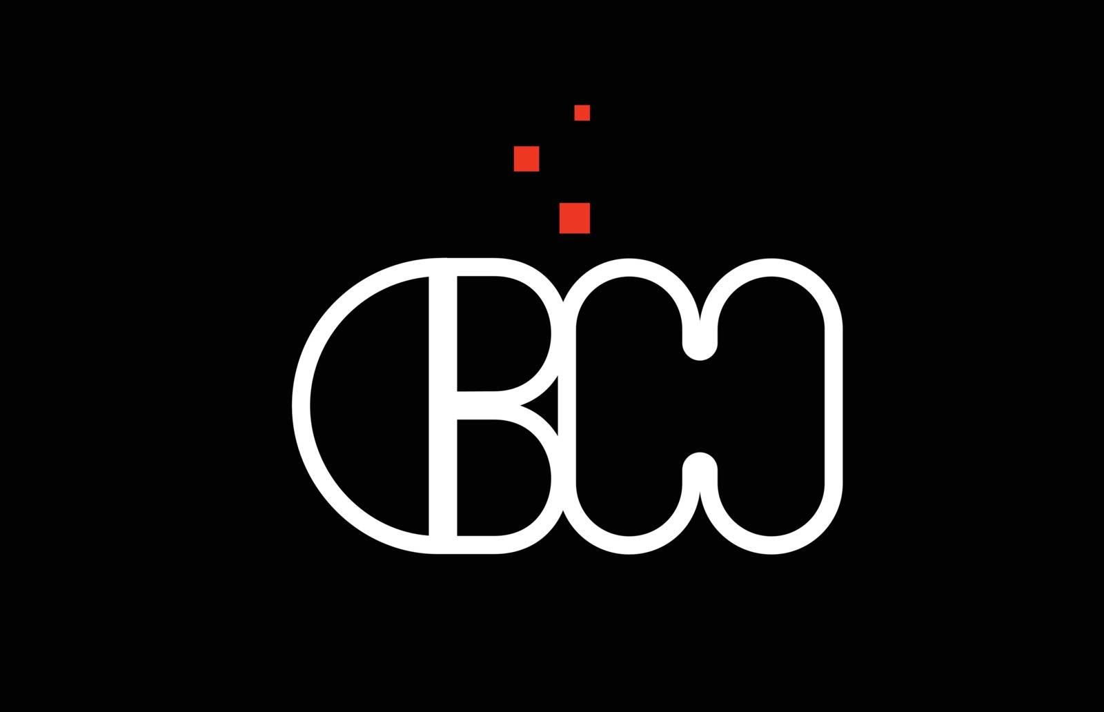 CH C H black white red alphabet letter combination logo icon des by dragomirescu