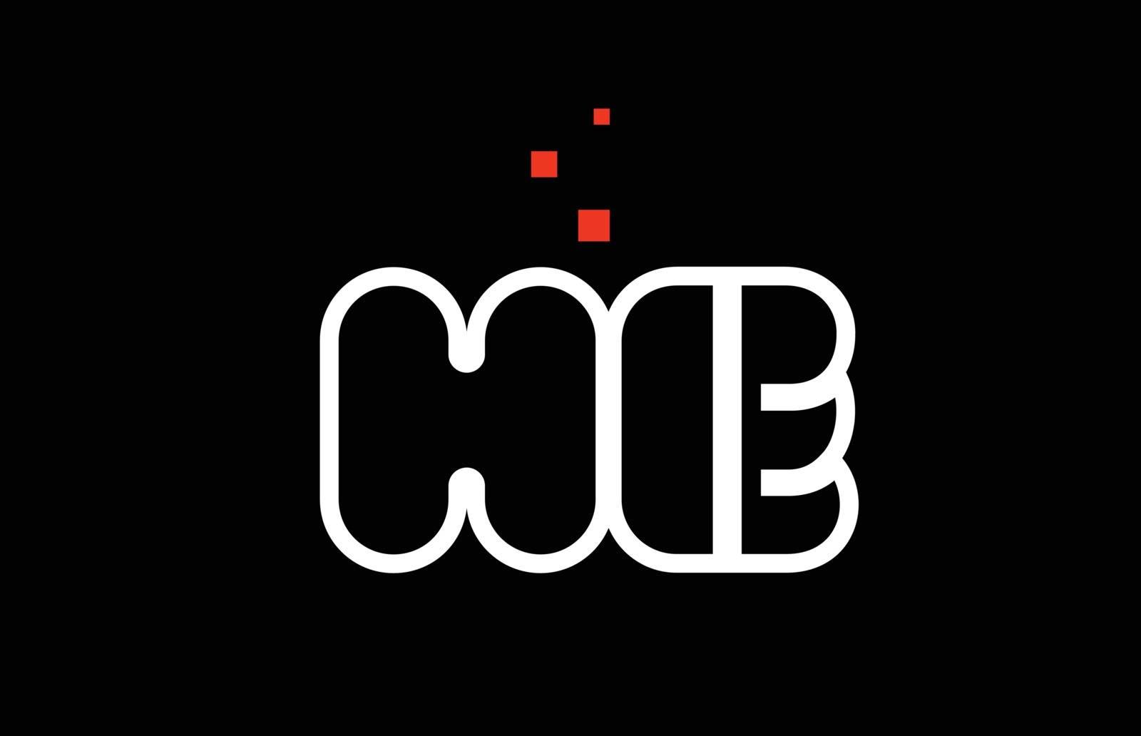 HE H E black white red alphabet letter combination logo icon des by dragomirescu