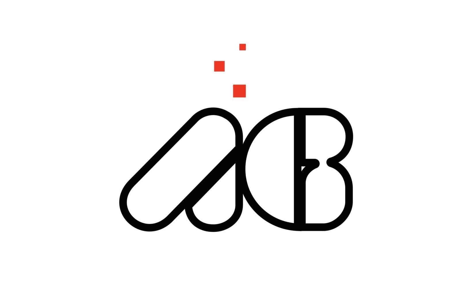 AG A G black white red alphabet letter combination logo icon des by dragomirescu