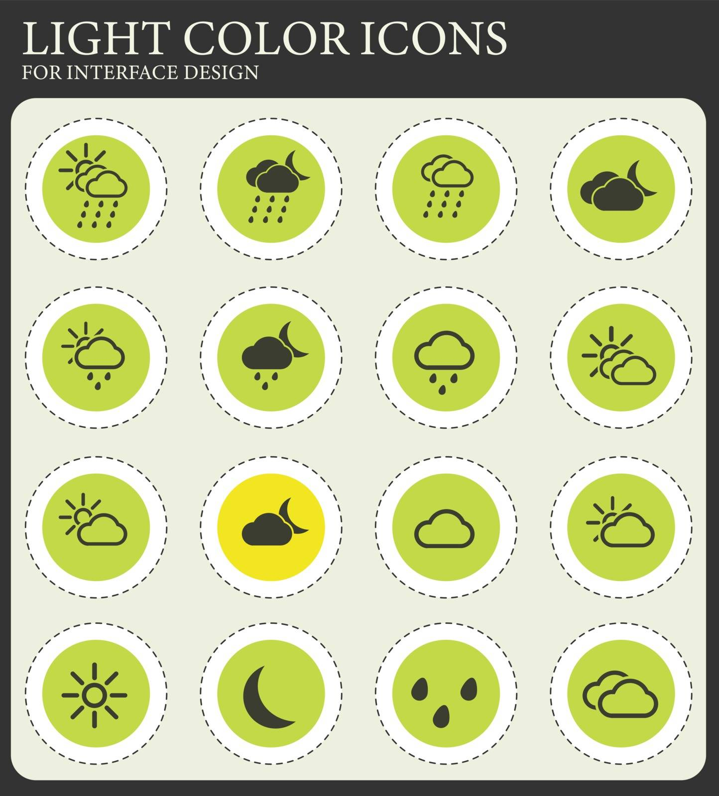 Weather simply icons for web and user interface