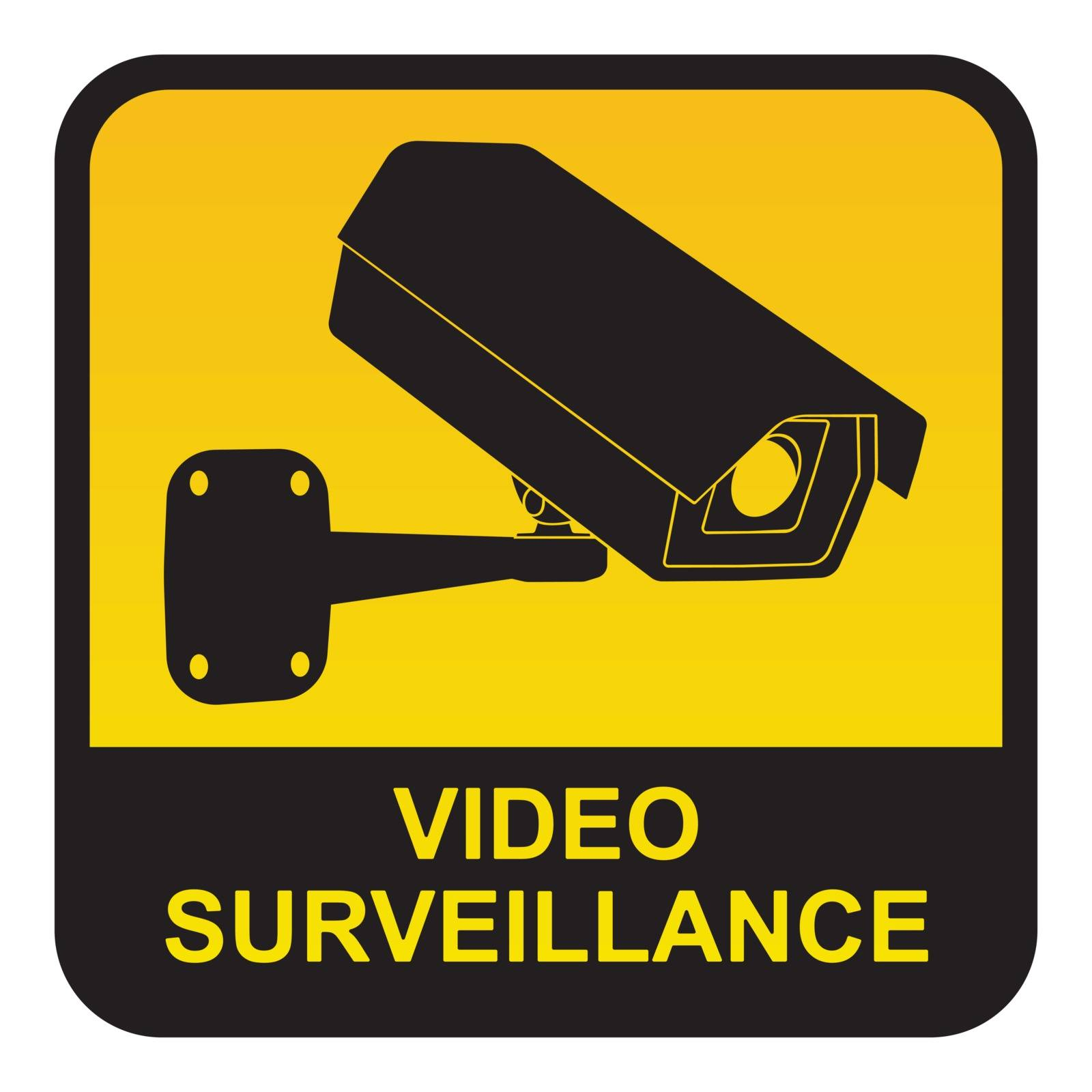 Warning sticker for video surveillance