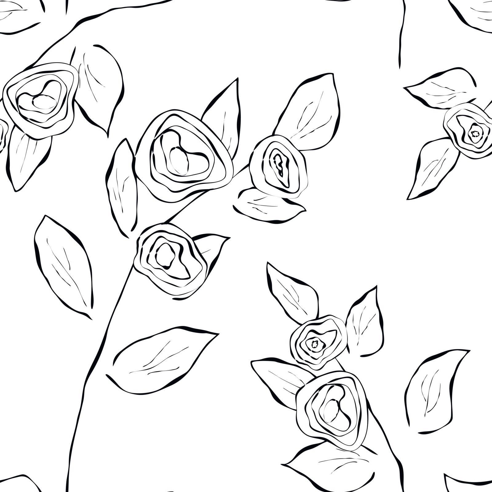 Seamless pattern easily editable vector image eps 10