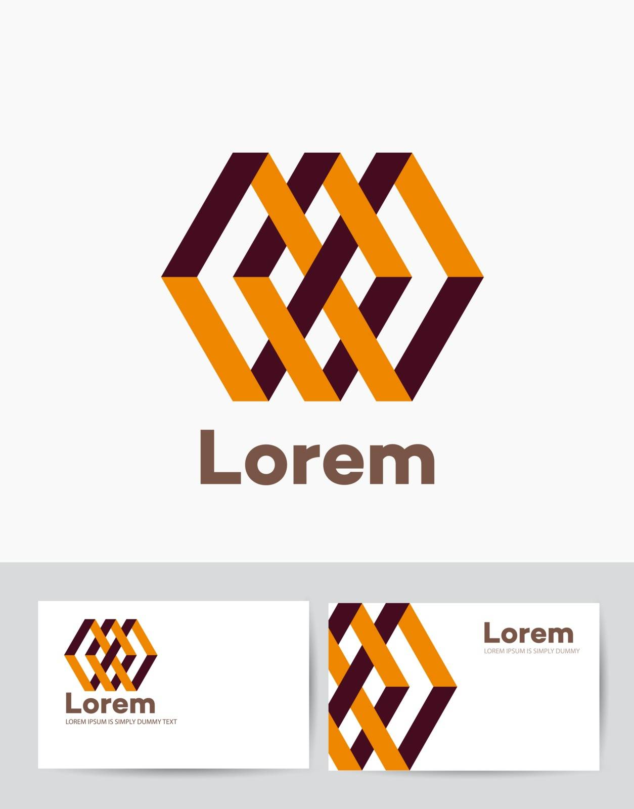The company of logo business card template