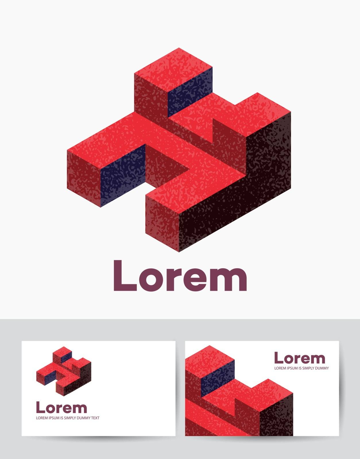 The company logo business card template