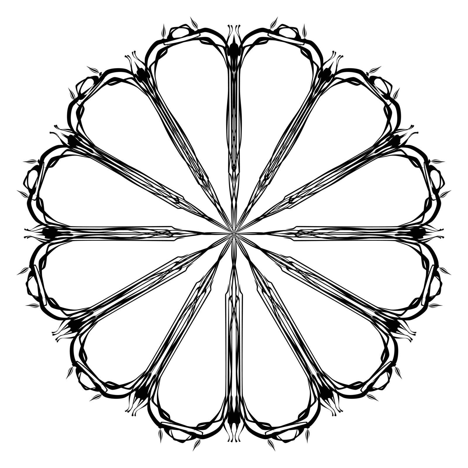 Thin Line Mandala by Bigalbaloo