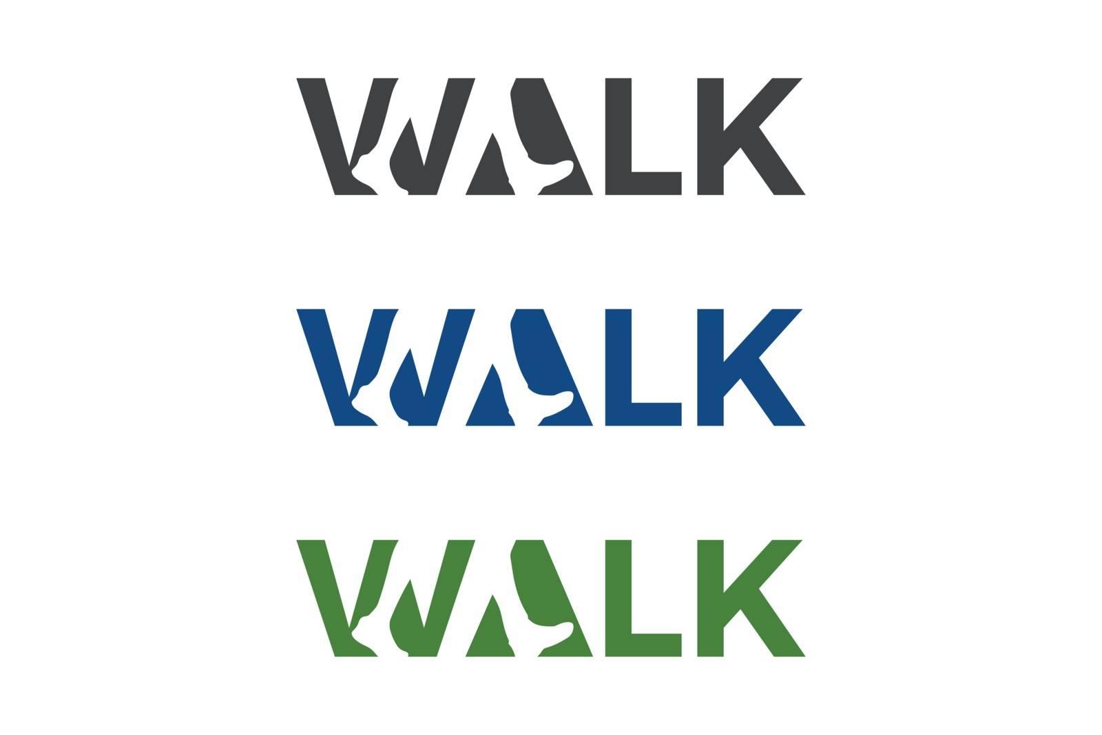 Walk Logo Foot Logo word logo