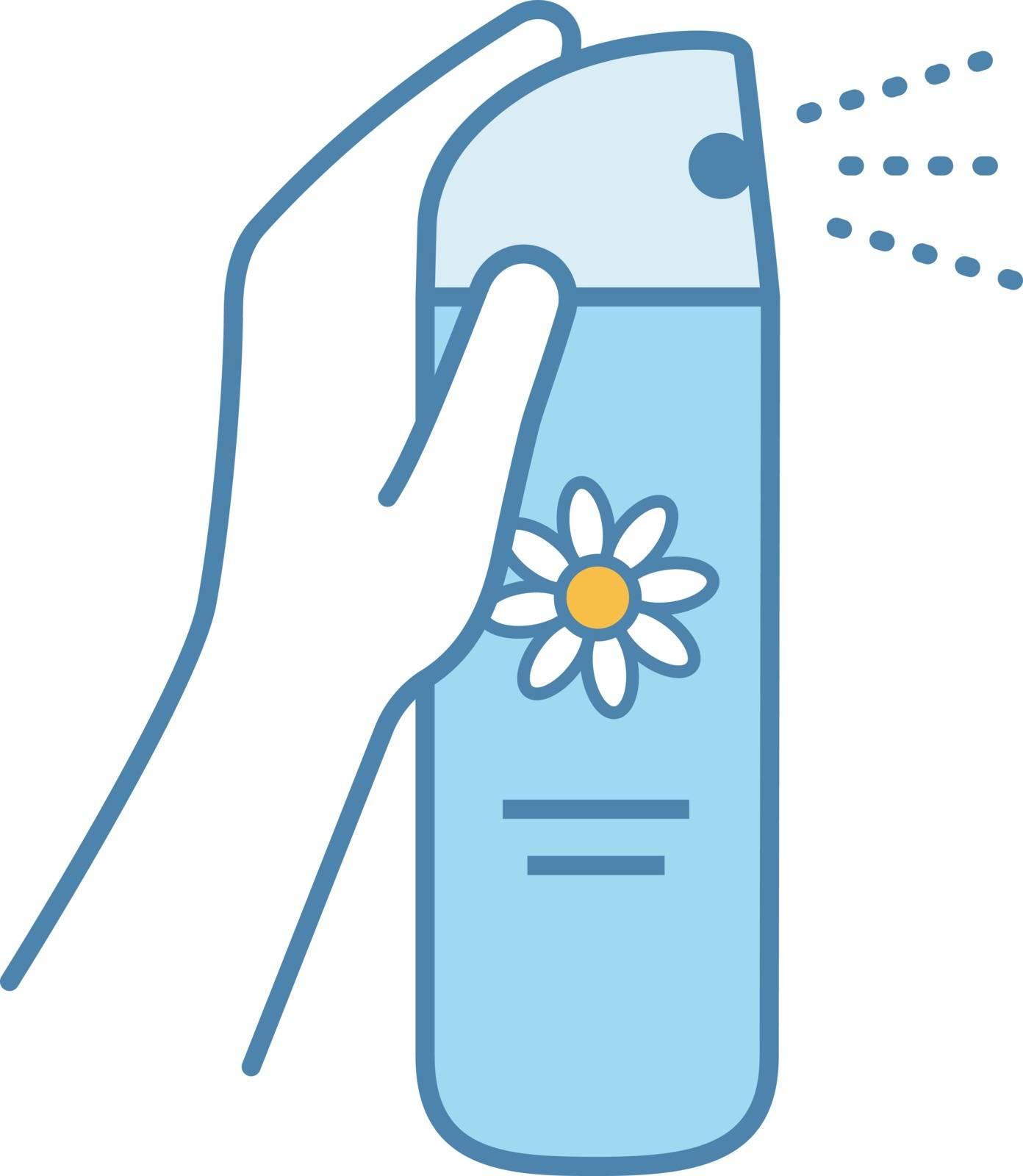Air freshener color icon. Toilet, bathroom, room air freshener. Isolated vector illustration