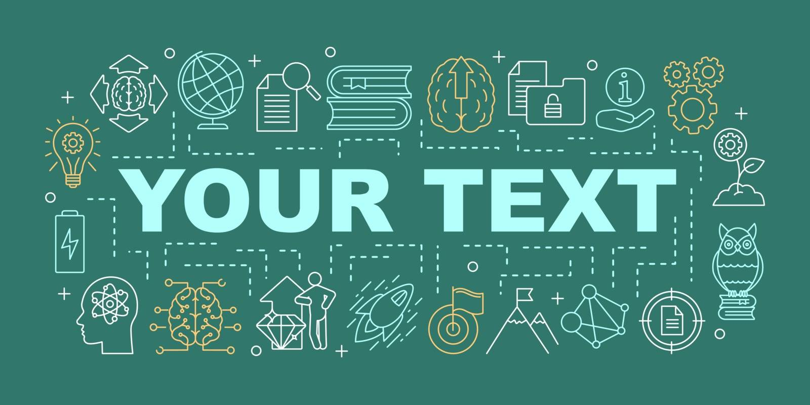 Knowledge word concepts banner. Solution searching. Presentation, website. Brainstorming. Ideas generation. Isolated lettering typography idea with linear icons. Vector outline illustration
