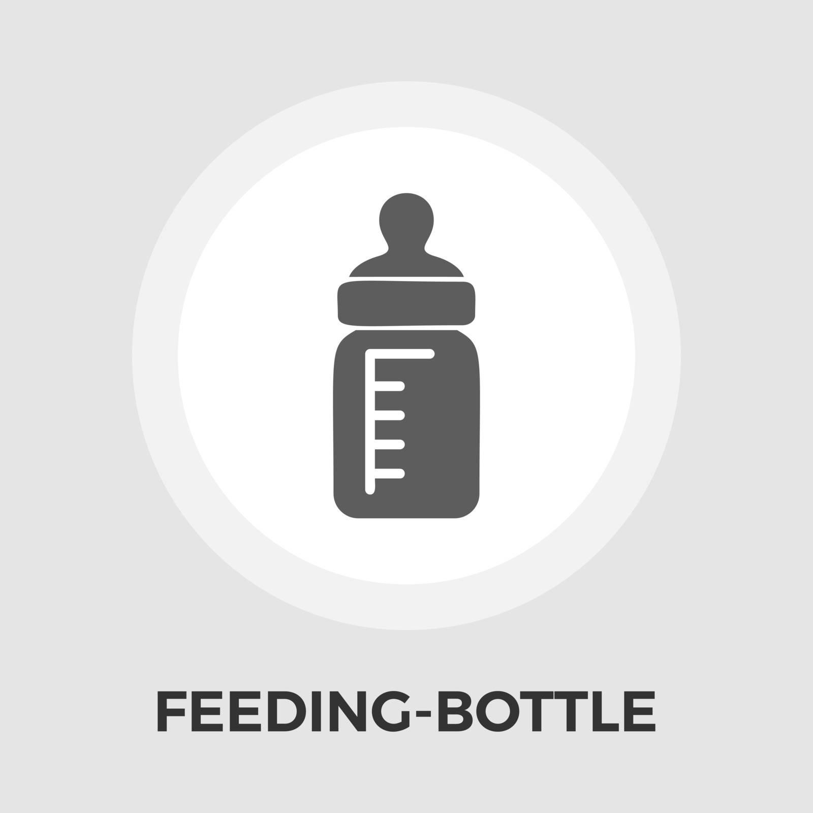 Feeding bottle icon vector. Flat icon isolated on the white background. Editable EPS file. Vector illustration.
