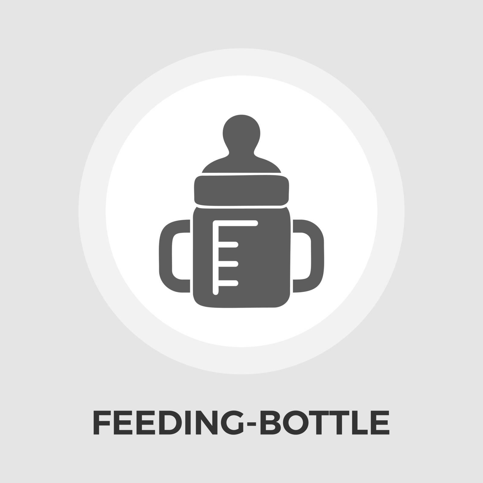Feeding bottle vector flat icon by smoki