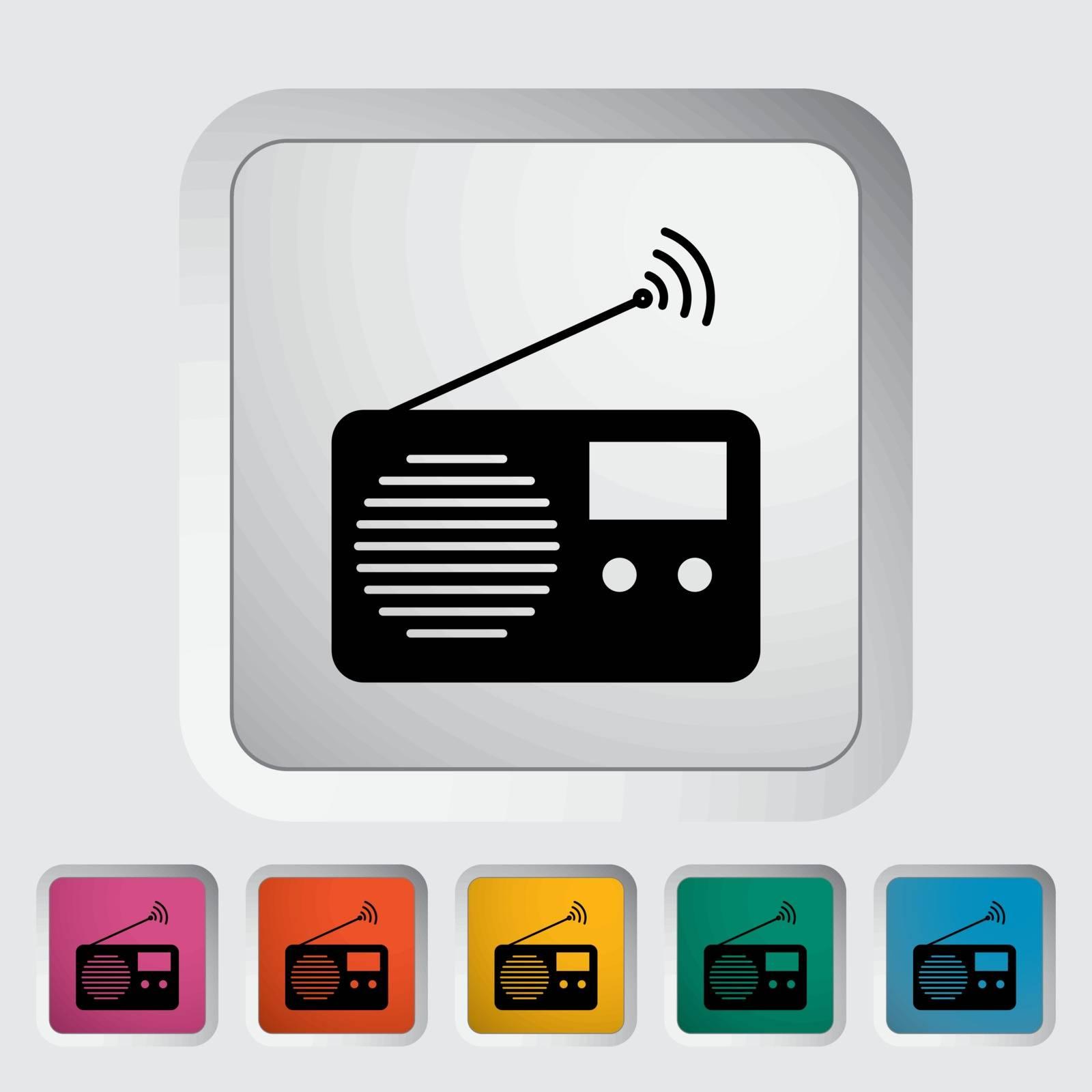 Radio icon by smoki