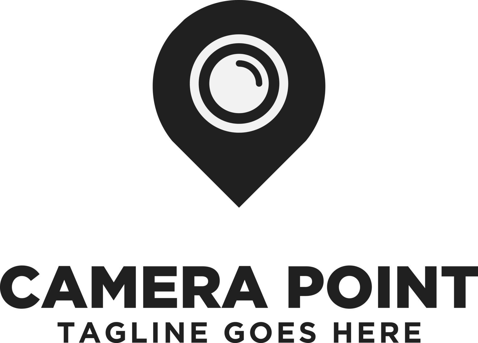 Camera Point Logo Design Inspiration, Vector illustration