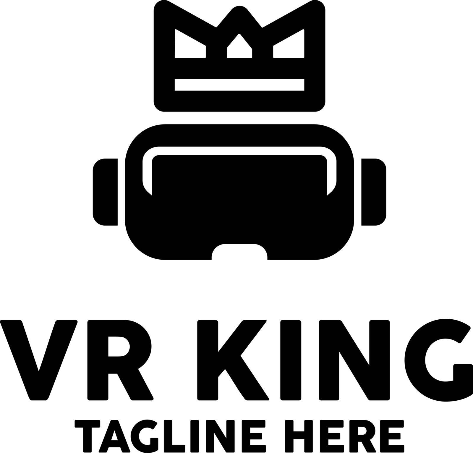Virtual Reality Logo Design Inspiration, Vector illustration
