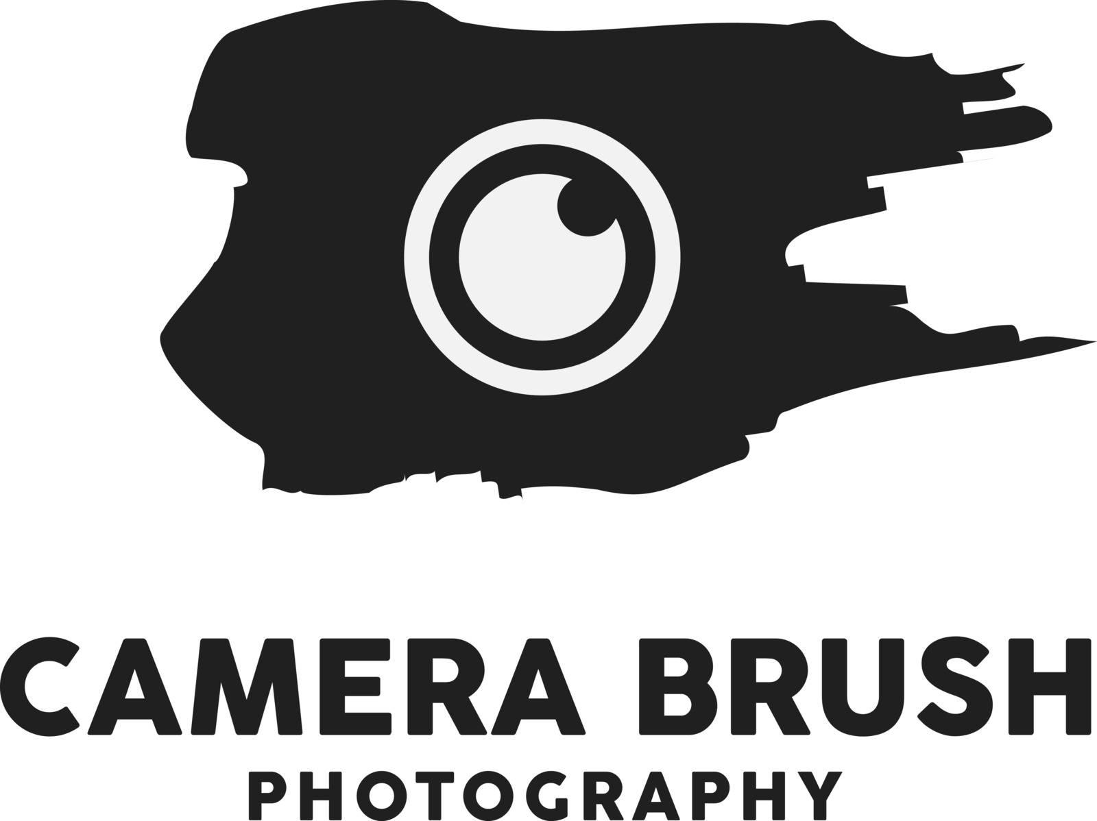 Camera Brush Logo Design Inspiration, Vector illustration