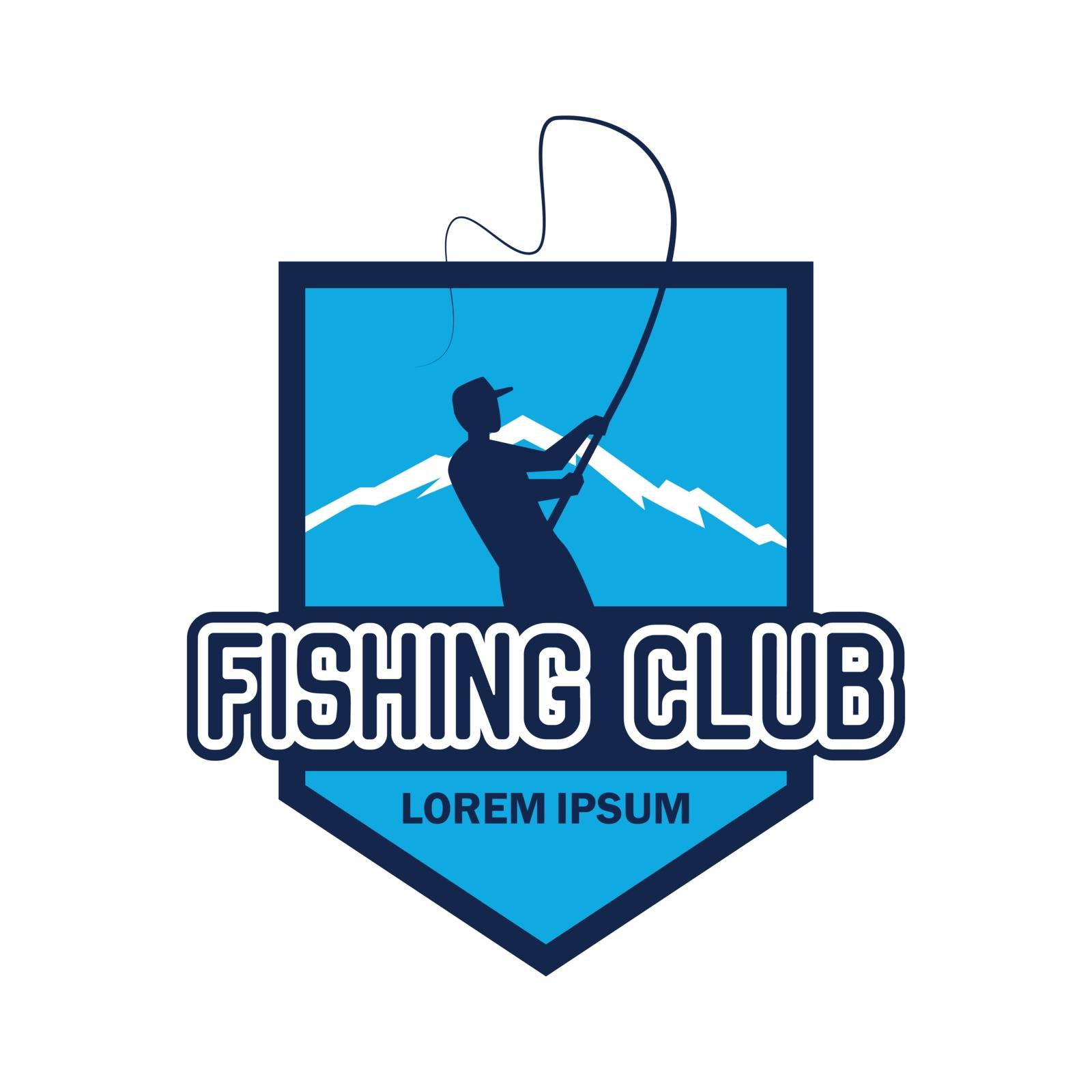 fishing logo with text space for your slogan / tag line, vector illustration