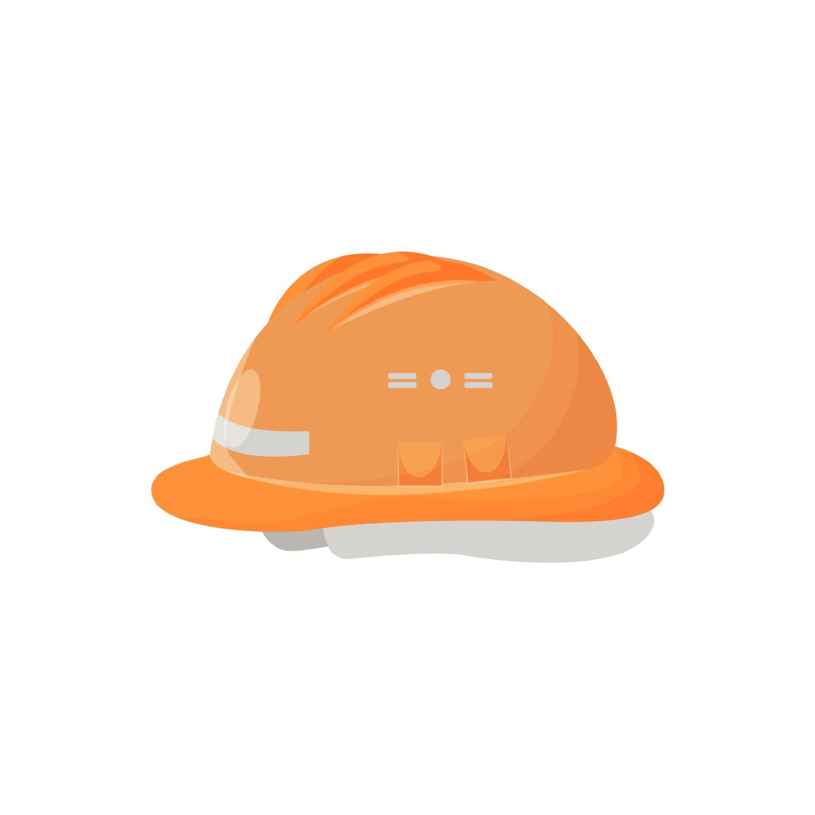 Hardhat cartoon vector illustration. Personal protective equipment, head wear. Industrial accessory, builder uniform item. Construction accident prevention. Safety helmet isolated on white background