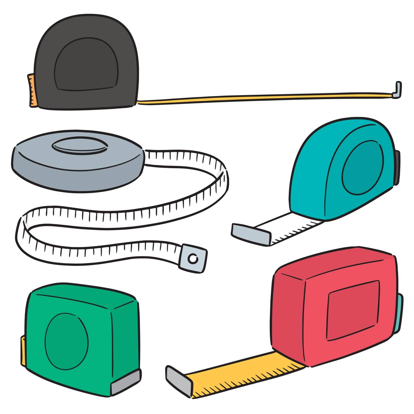 vector set of measuring tape