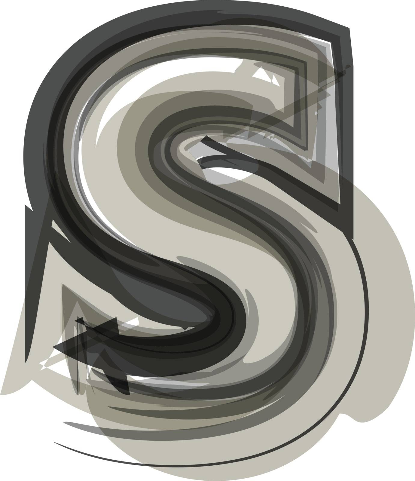 Abstract Letter S illustration