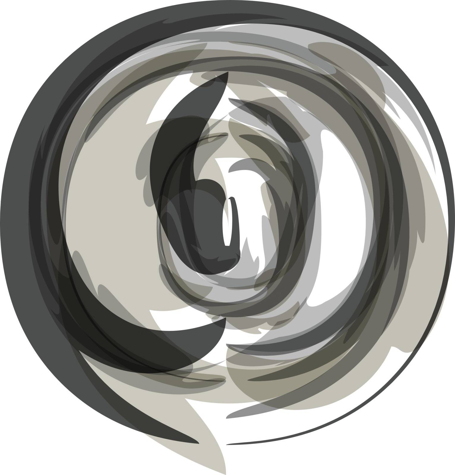 Abstract Letter o Illustration