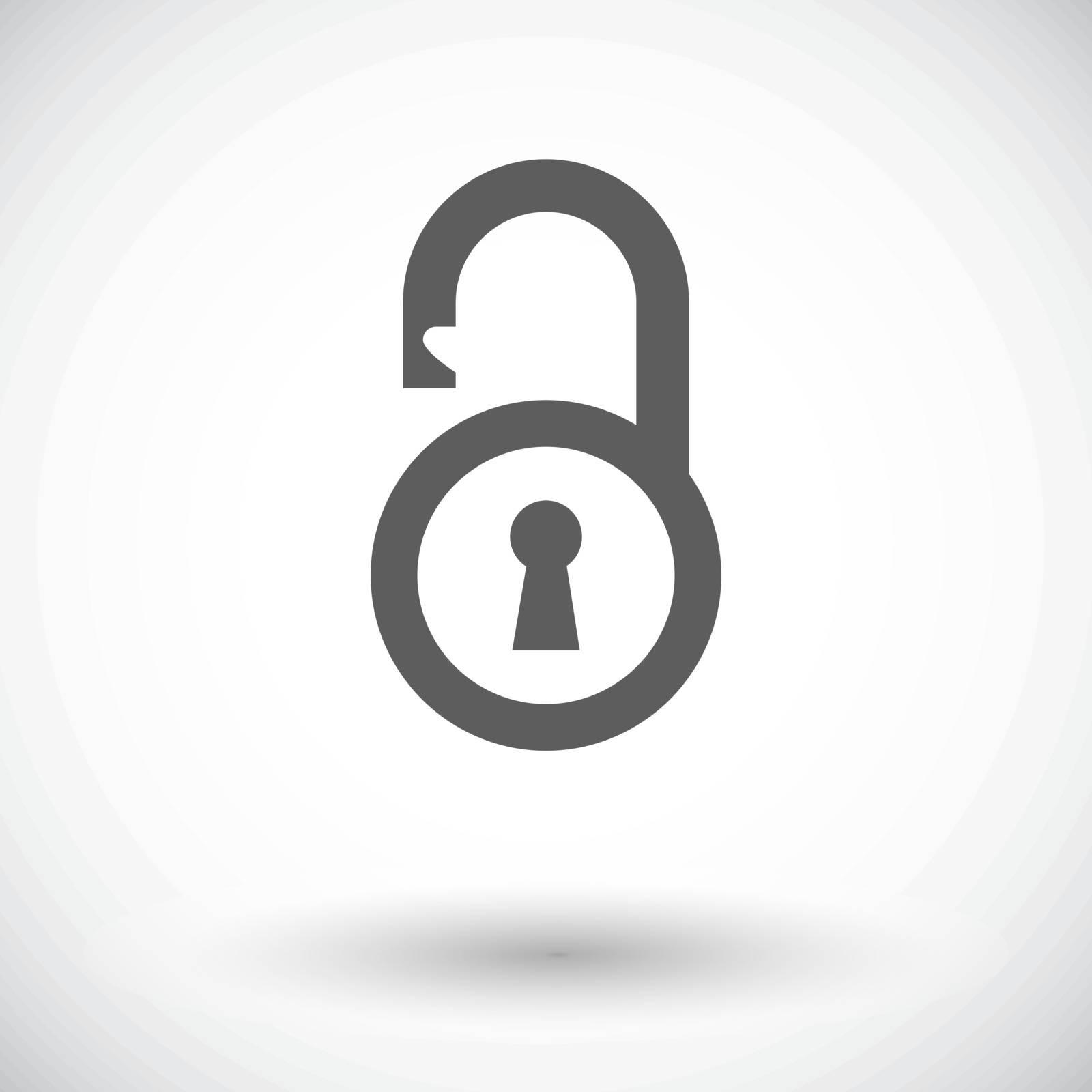 Padlock. Single flat icon on white background. Vector illustration.