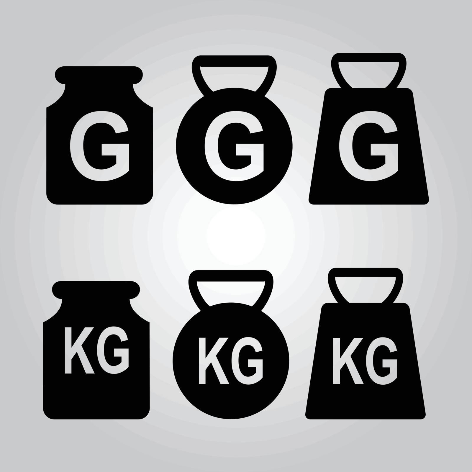 Weight icon, symbol vector illustration