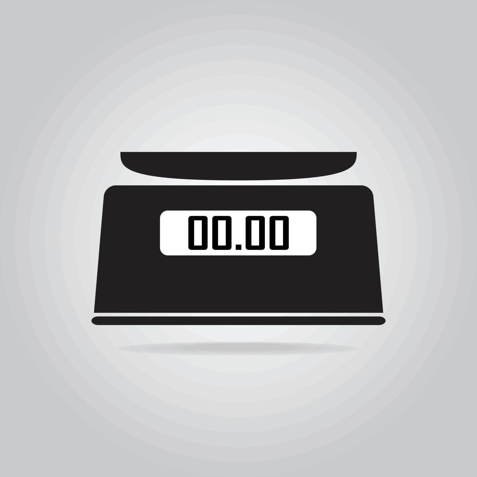 Digital scale icon, symbol vector illustration