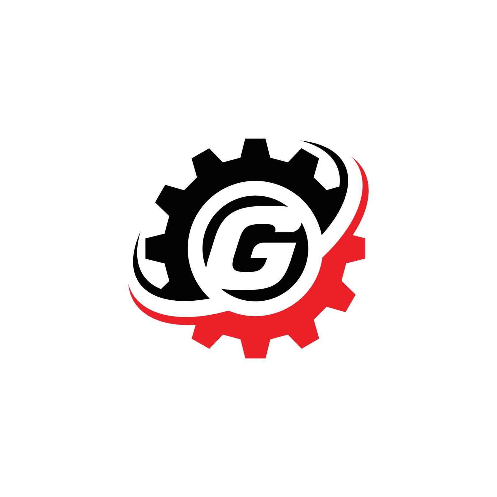 Letter G Gear Logo Design Template