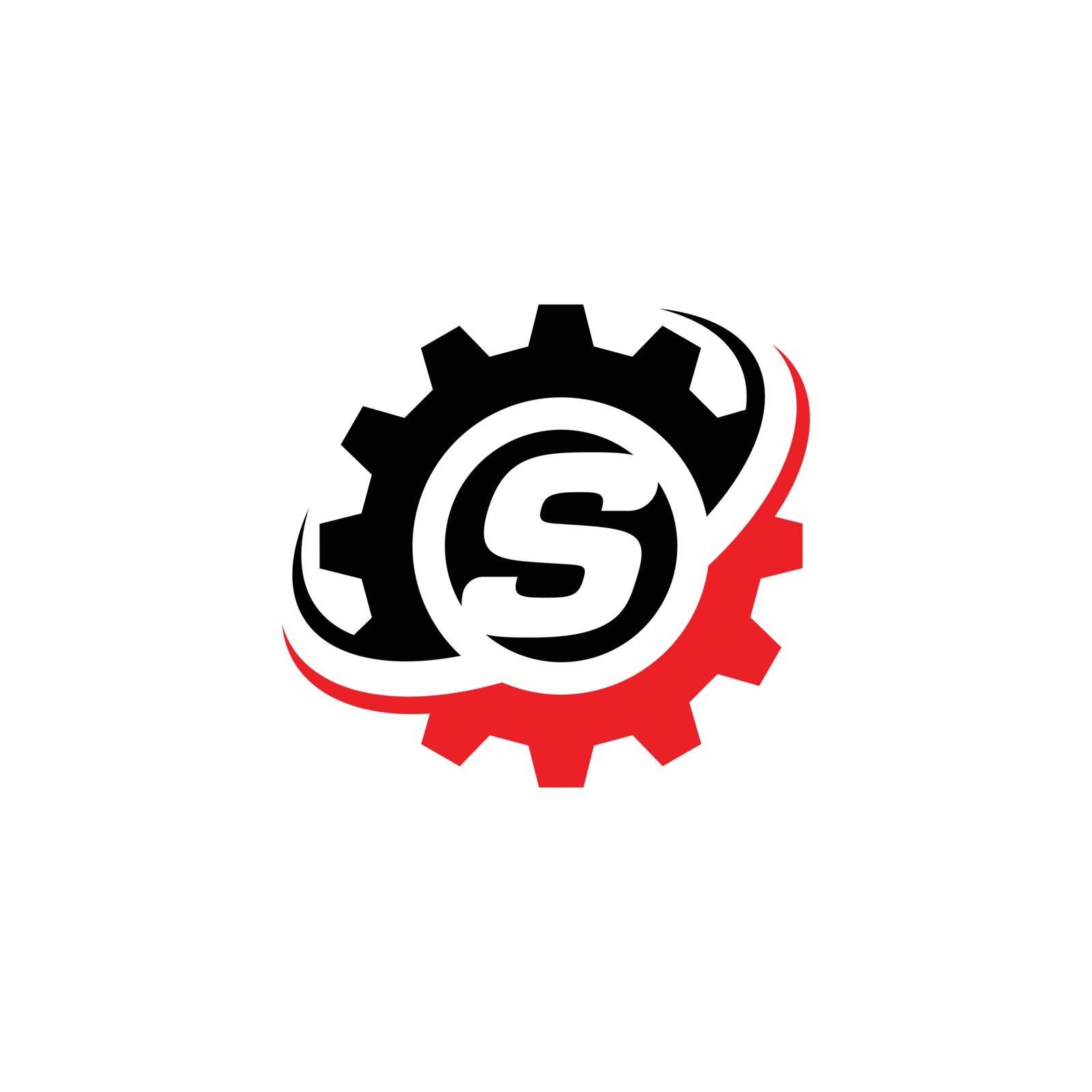 Letter S Gear Logo Design Template