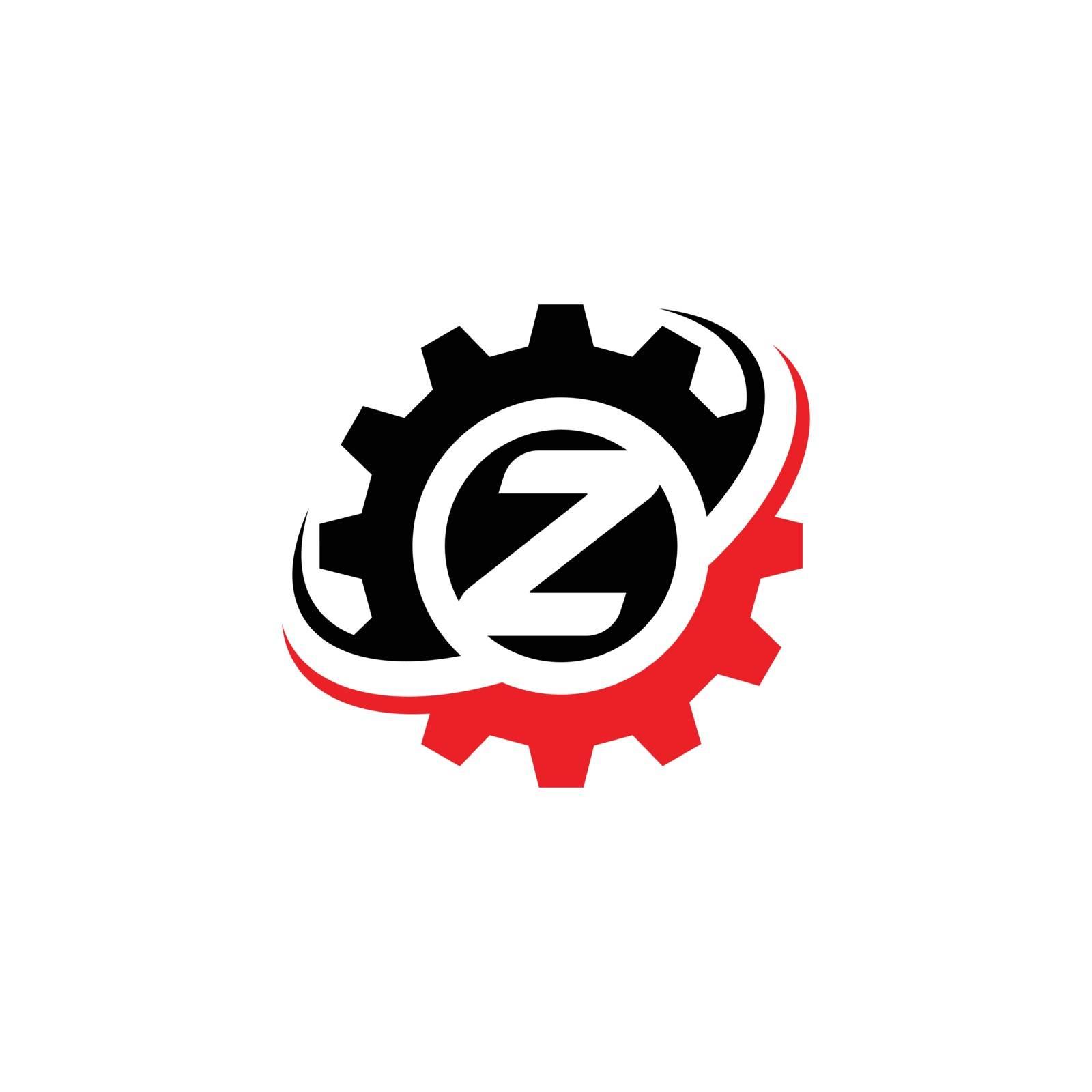 Letter Z Gear Logo Design Template