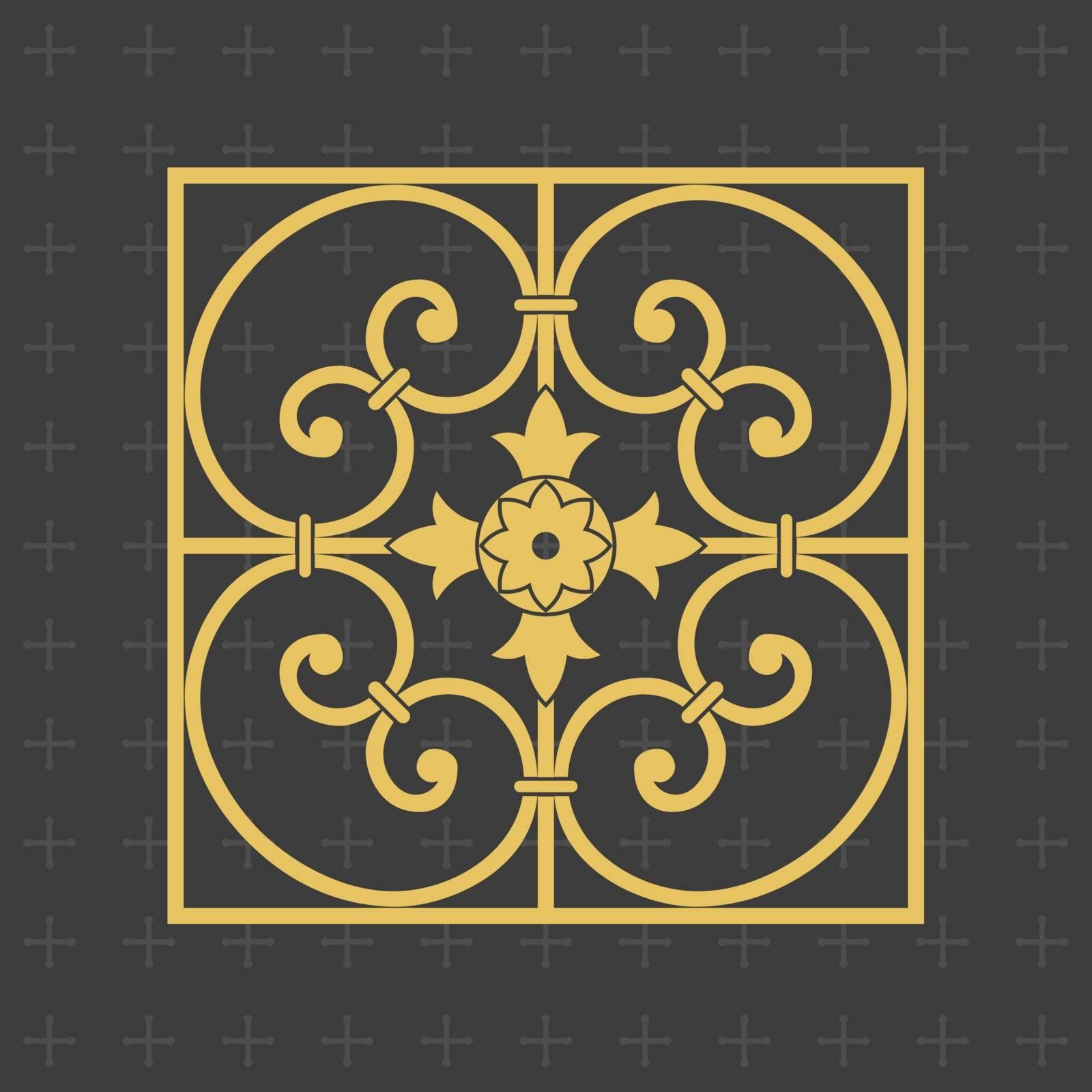 Vintage baroque ornament. Retro pattern antique style.