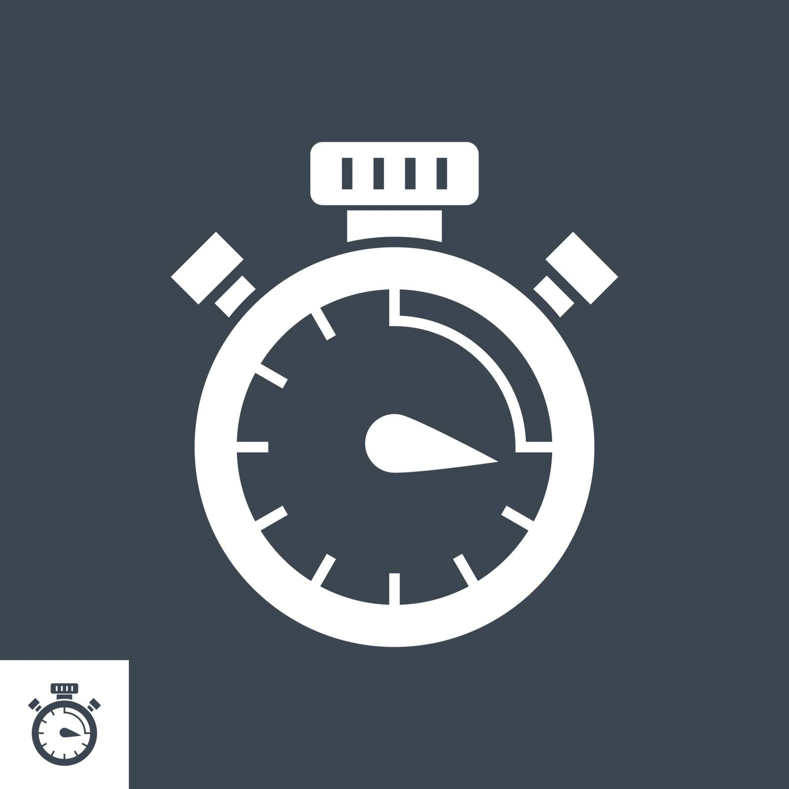Campaign Timing Related Vector Glyph Icon. Isolated on Black Background. Vector Illustration.