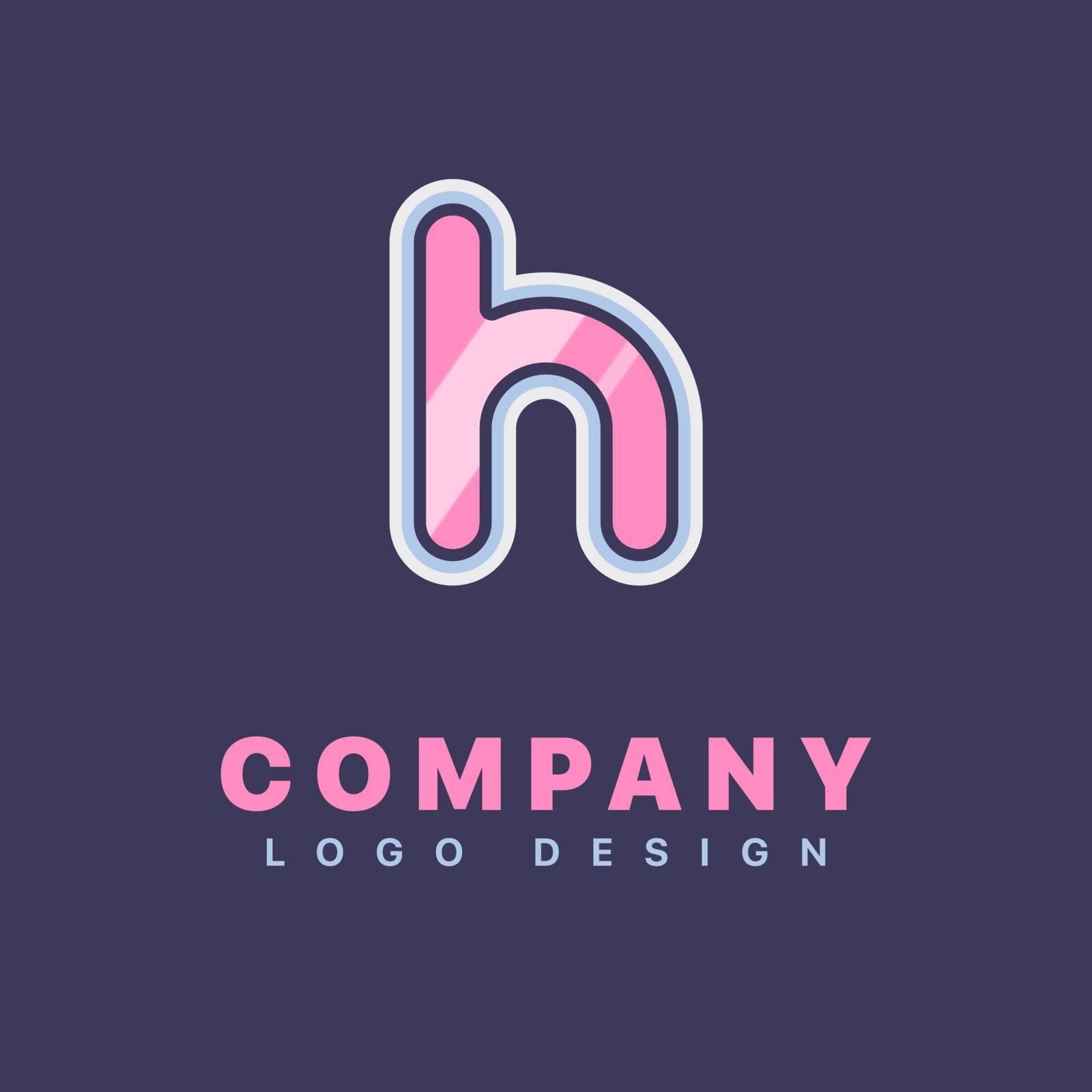 Letter H logo design template. Company logo icon
