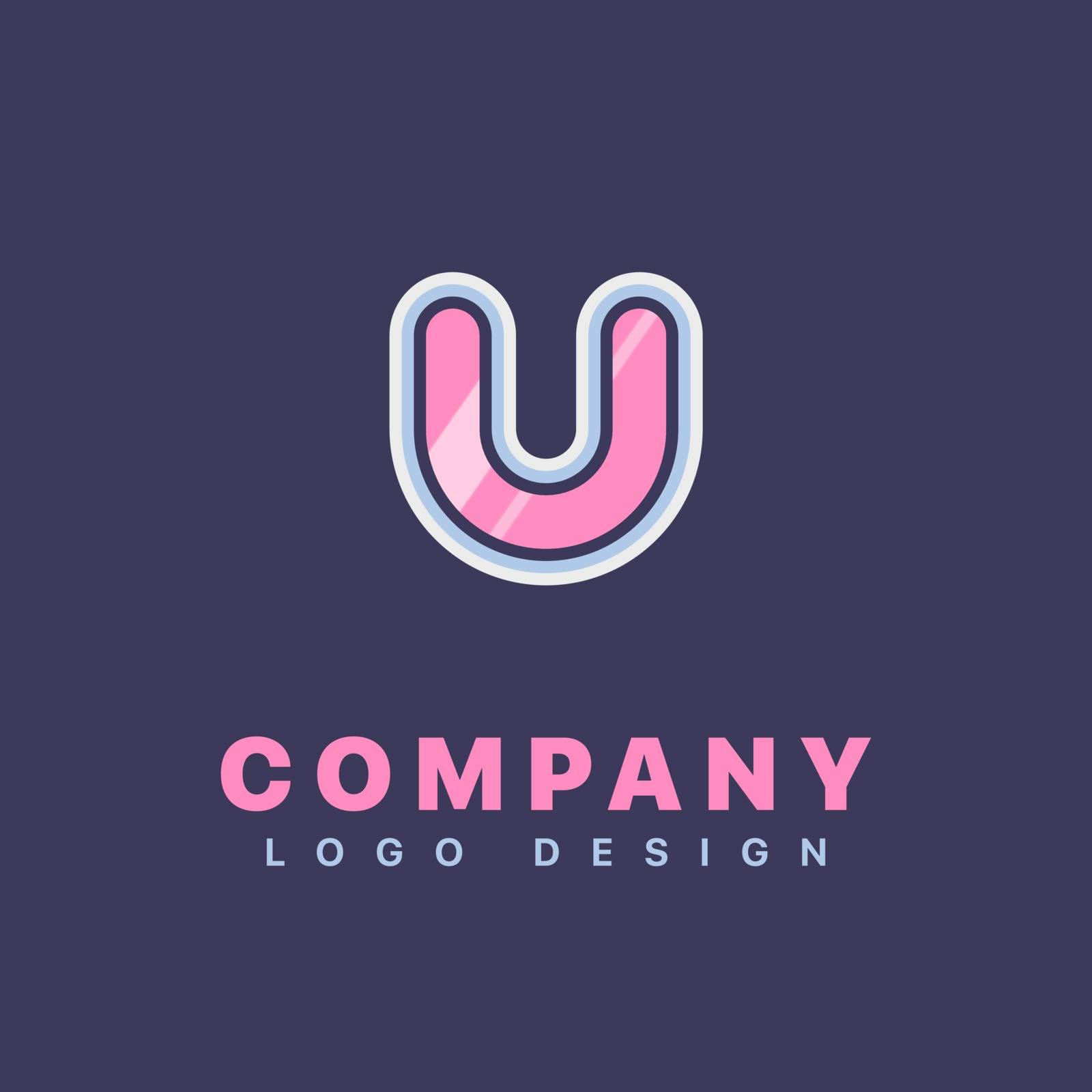 Letter V logo design template. Company logo icon